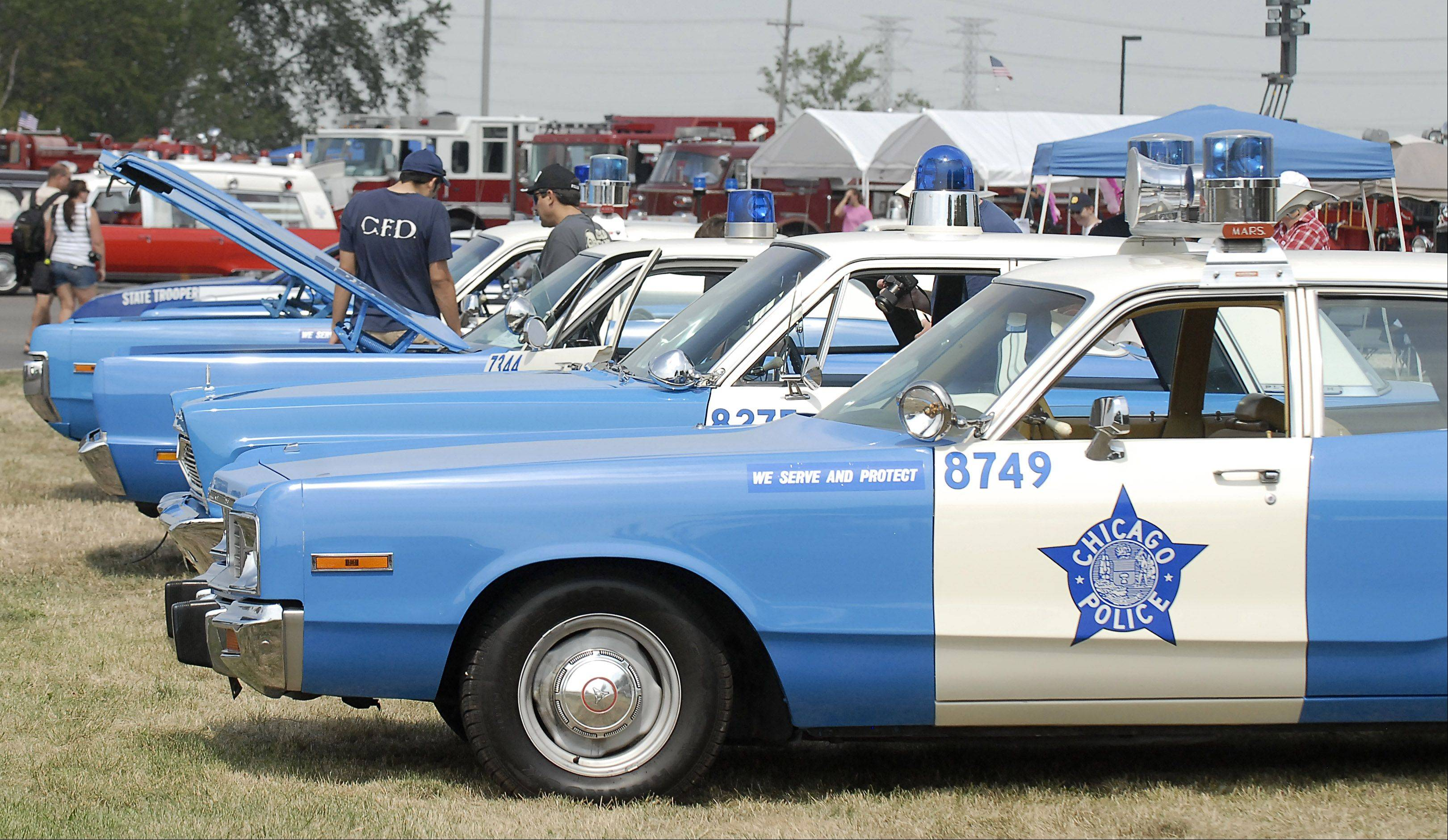 Classic police cars will be a highlight of the 16th annual Chicagoland Emergency Vehicle Show during North Aurora Days from 10 a.m. to 4 p.m. Saturday at Pentair Water on Airport Road and Oberweis Dairy off Randall Road.
