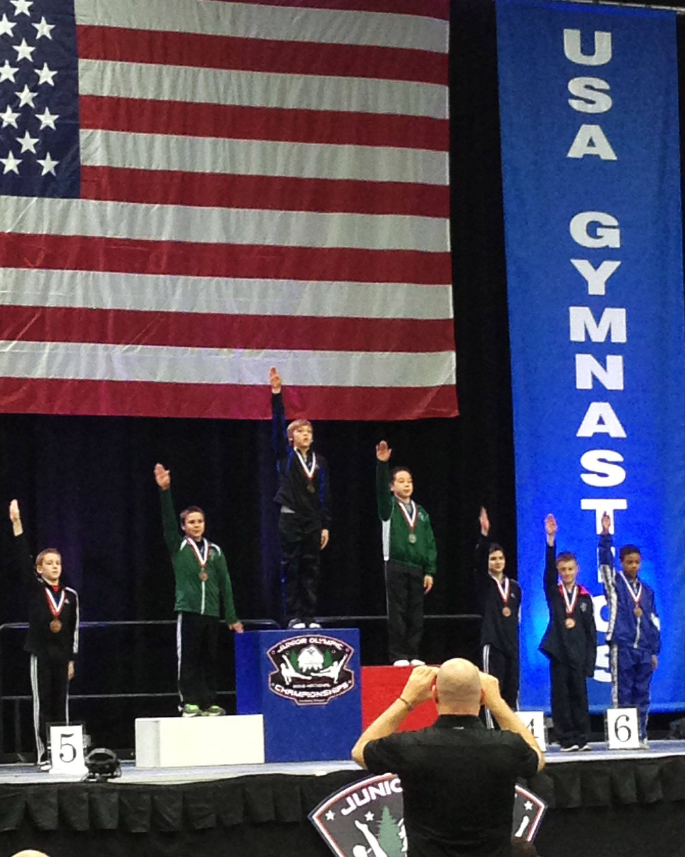 Austin Jones, 12, of St. Charles, took the gold medal in the vault in his age and level at the 2013 Junior Olympic Championships held in Portland, Ore. Austin, a gymnast with St. Charles Gymnastics Academy, also took 5th place in the parallel bars and 15th all around.