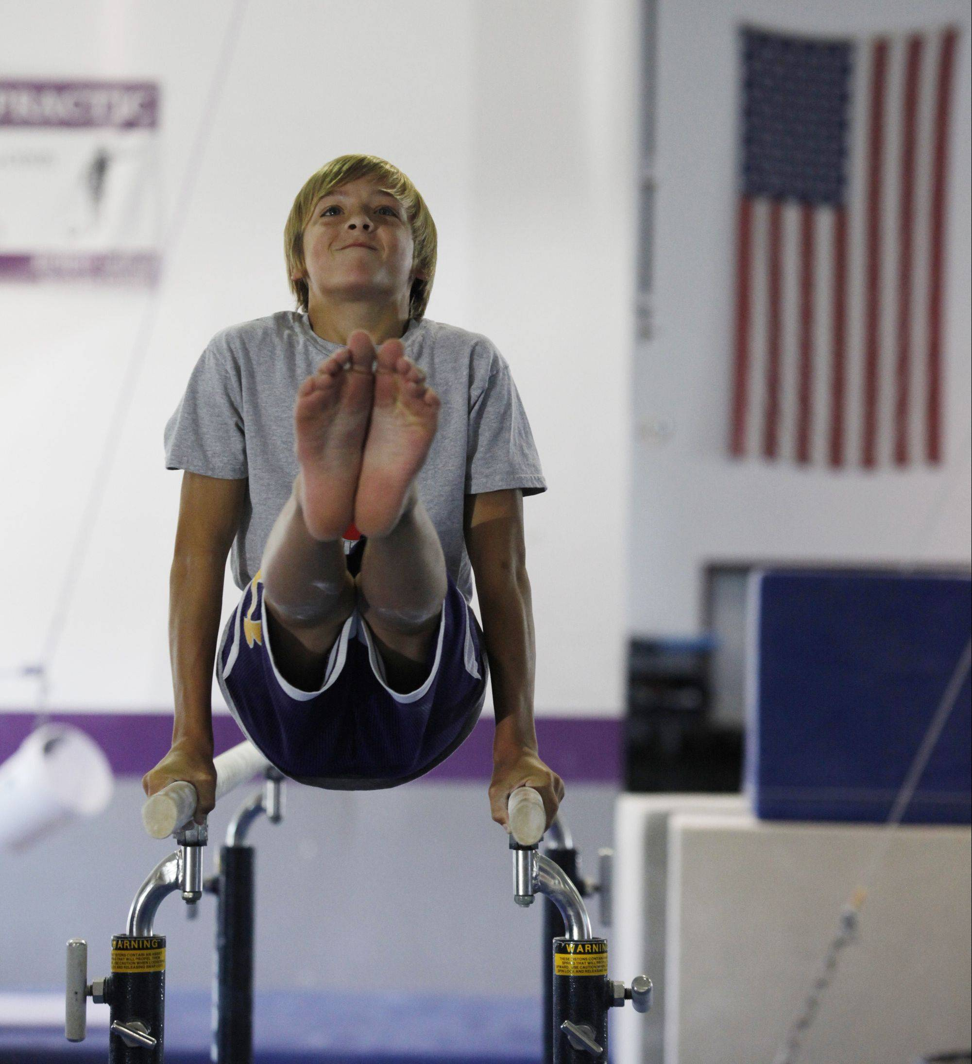 Gymnast Austin Jones, 12, of St. Charles hopes to represent the United States someday at the Olympics. He's been doing gymnastics since he was 4 years old and took the gold medal in the vault in his age and level at the 2013 Junior Olympic Championships held in Portland, Ore.