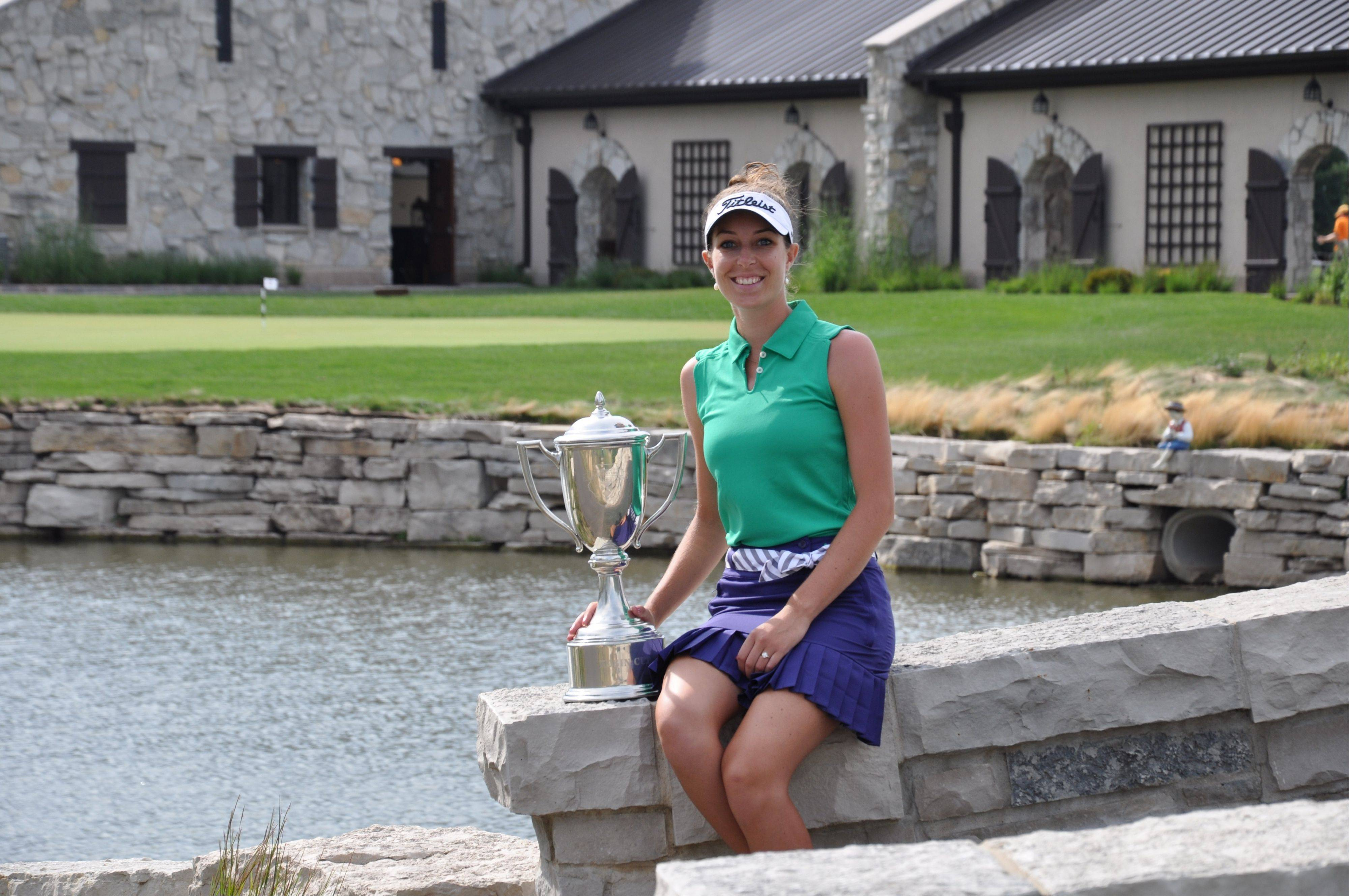 Elise Swartout, a Michigan pro, earned the 2013 Phil Kosin Illinois Women's Open title at Mistwood Golf Club with a 3-under 69 on Friday.