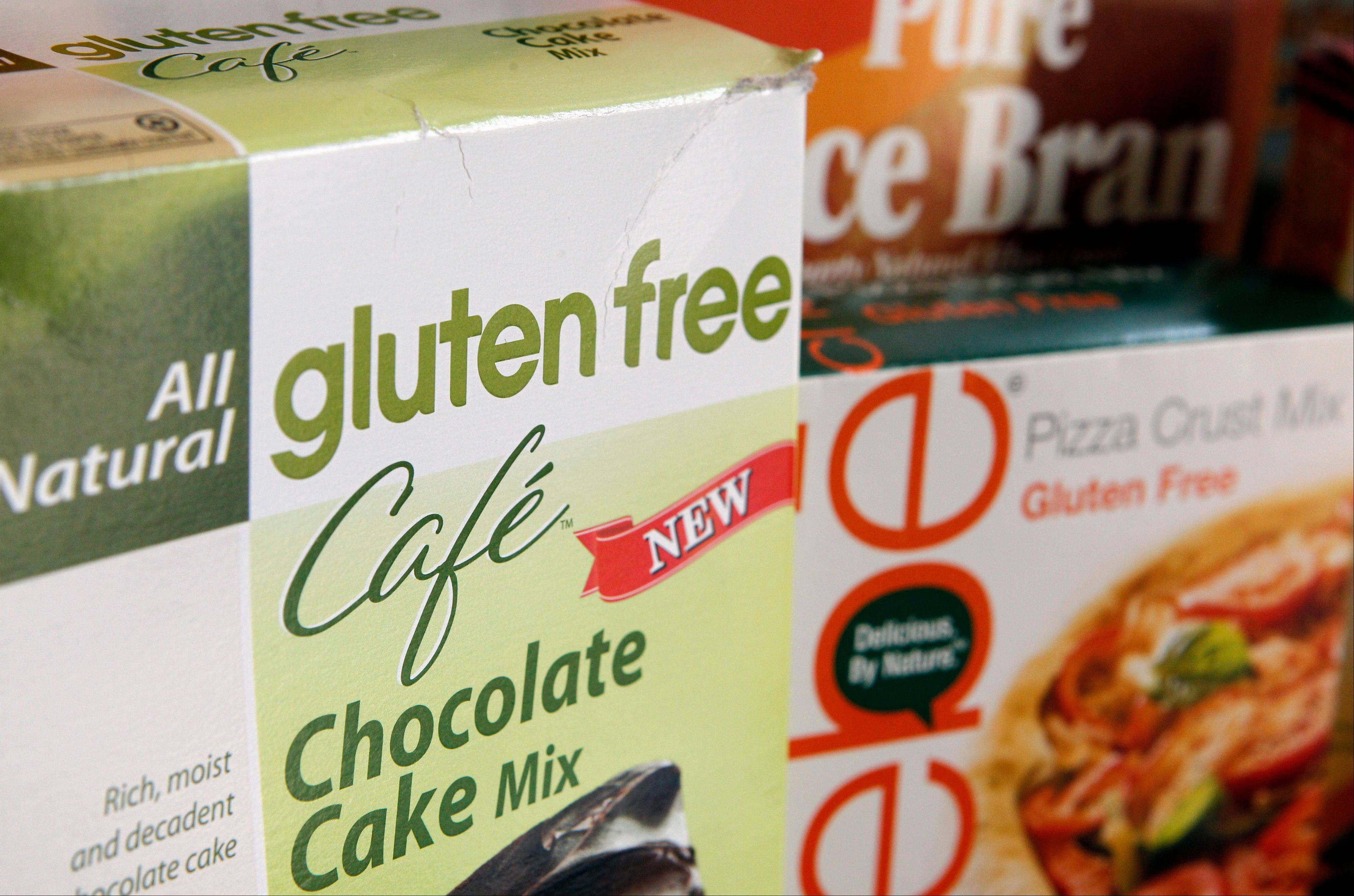 A variety of foods labeled Gluten Free displayed in Frederick, Md., Friday.