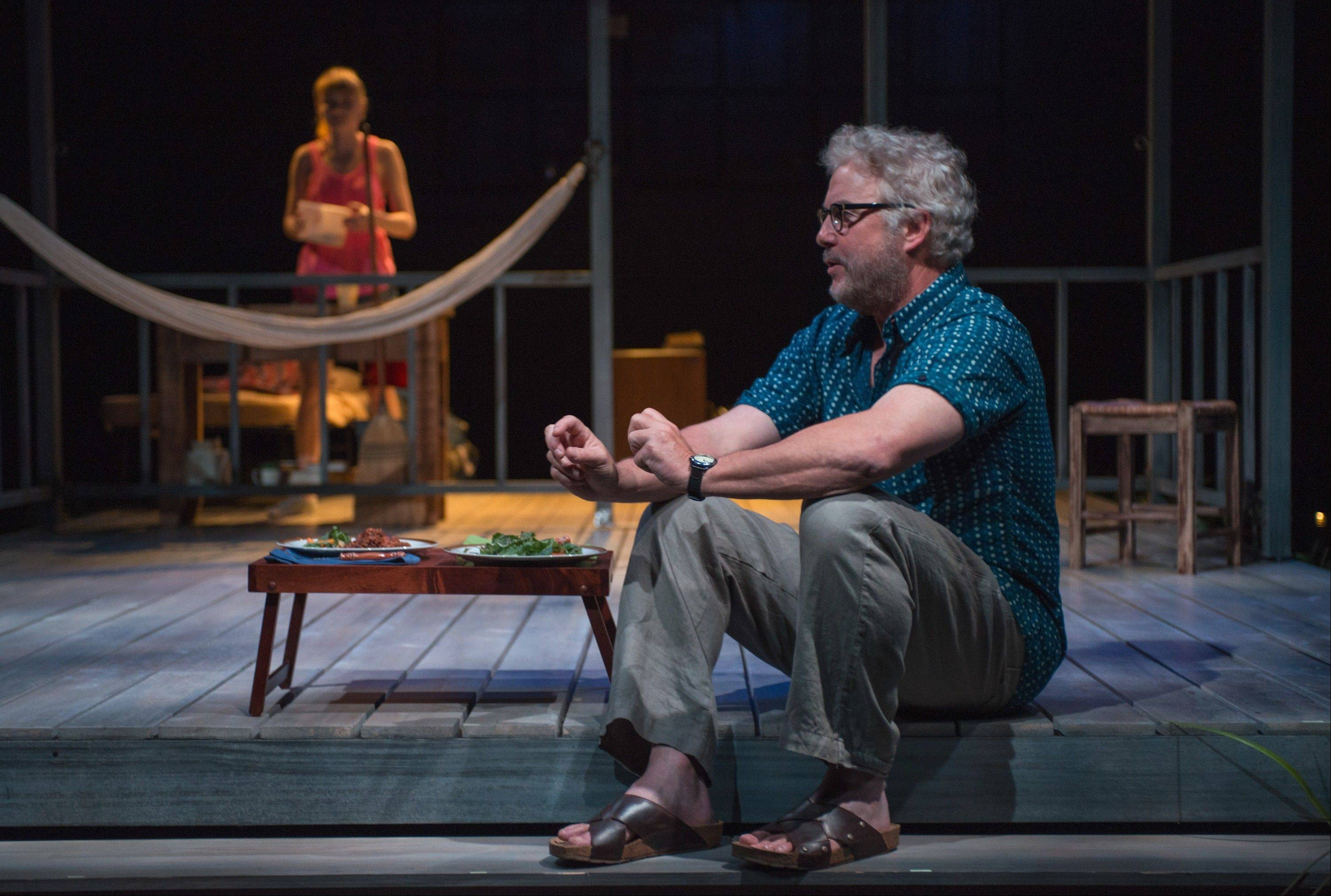 "Sterling (William Petersen) has to bring up something upsetting to his visiting niece, Becky (Rae Gray), in Steppenwolf Theatre Company's regional premiere of Greg Pierce's 2012 off-Broadway drama ""Slowgirl."""