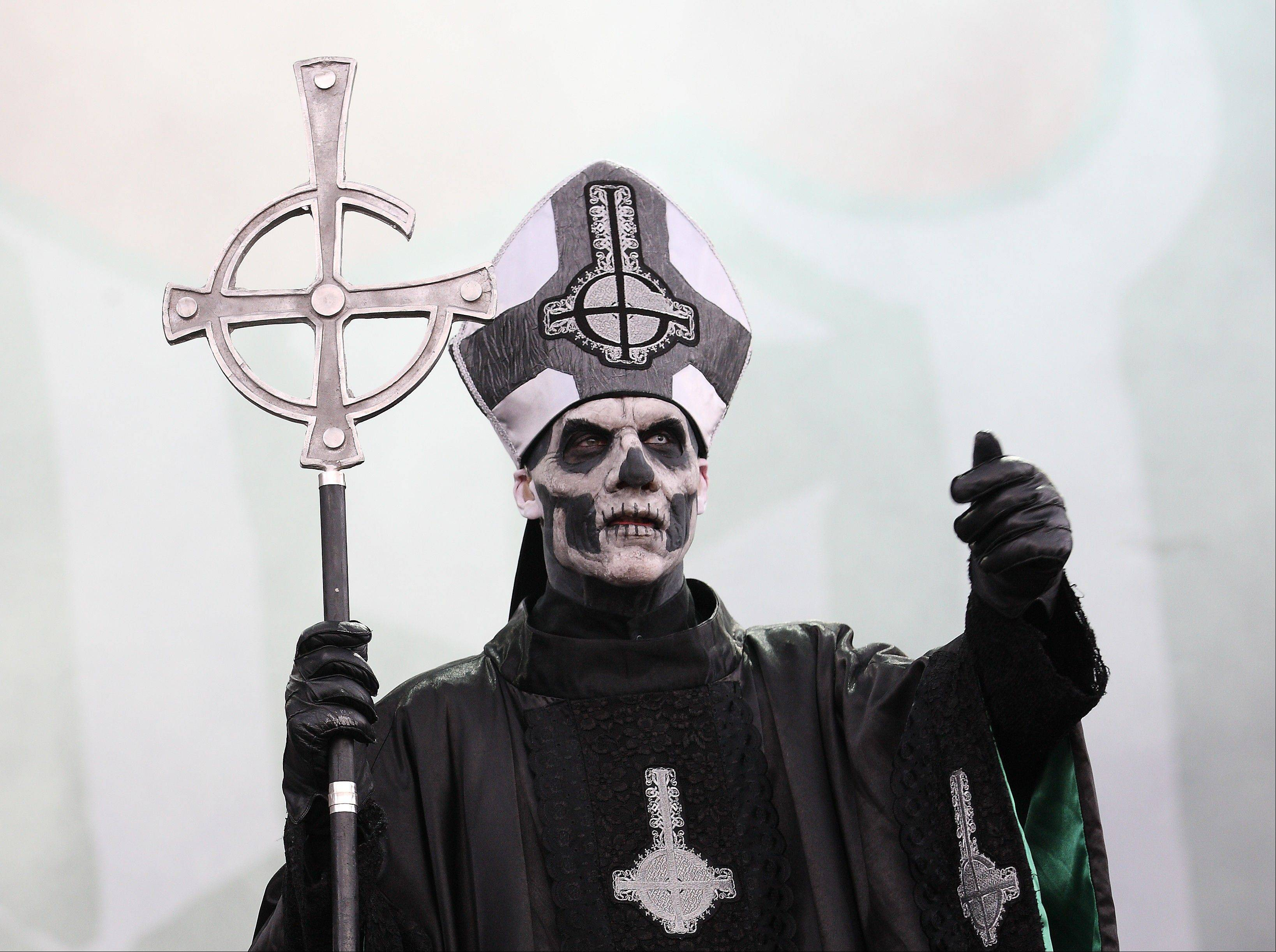 Papa Emeritus II of the Swedish band Ghost BC takes the stage on day 1 of Lollapalooza 2013 at Grant Park in Chicago Friday.