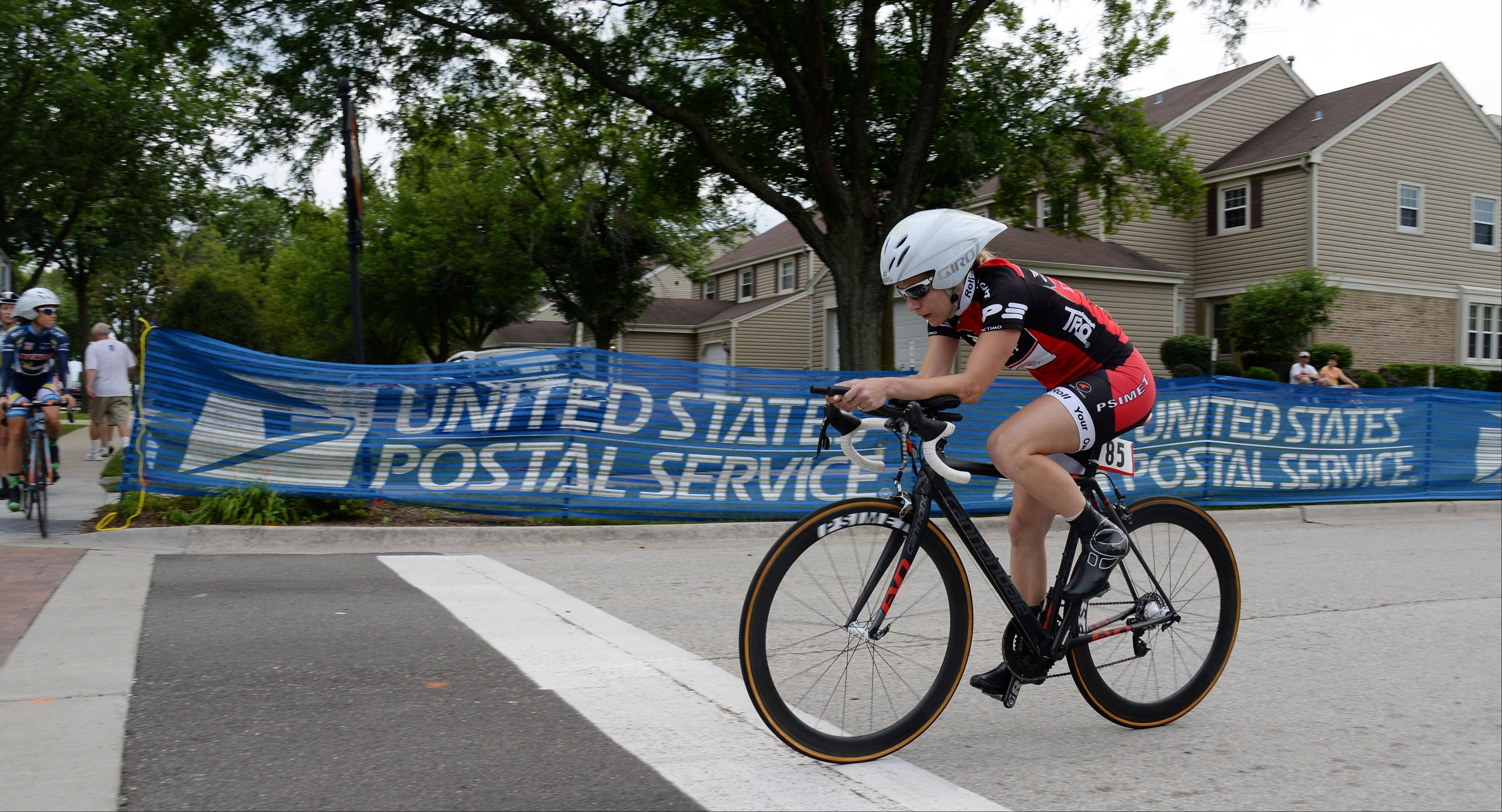 Kelli Richter, 31, of Libertyville rides in the 2013 Alexian Brothers Tour of Elk Grove Mayor Set Charity Race time trials on day one of the three-day event.
