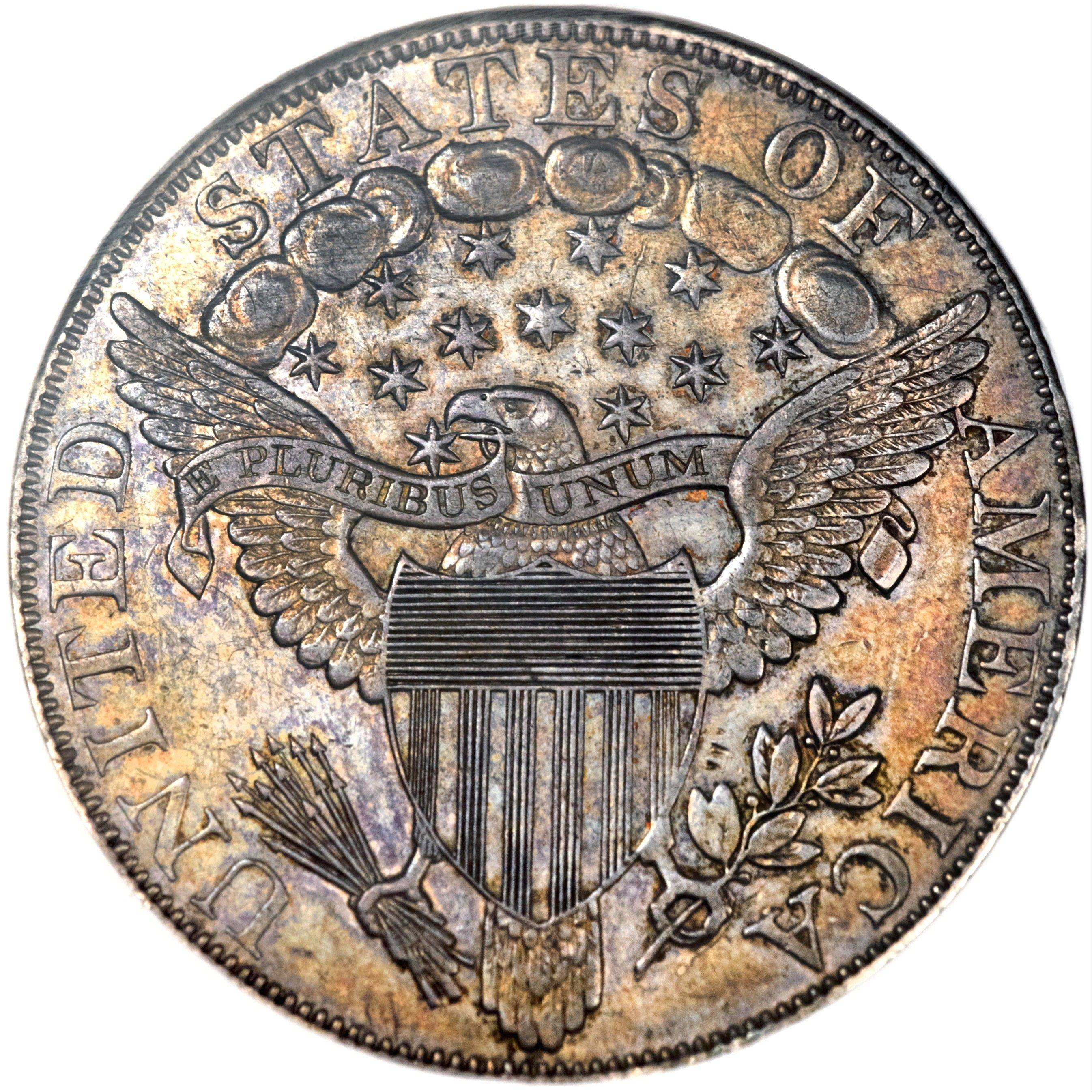 "Known as ""The King of Coins,"" this U.S. silver dollar is dated 1804 but actually was made decades later on behalf of President Andrew Jackson. It is expected to sell for more than $3 million in a public auction conducted by Heritage Auctions in Rosemont on Friday, Aug. 9."