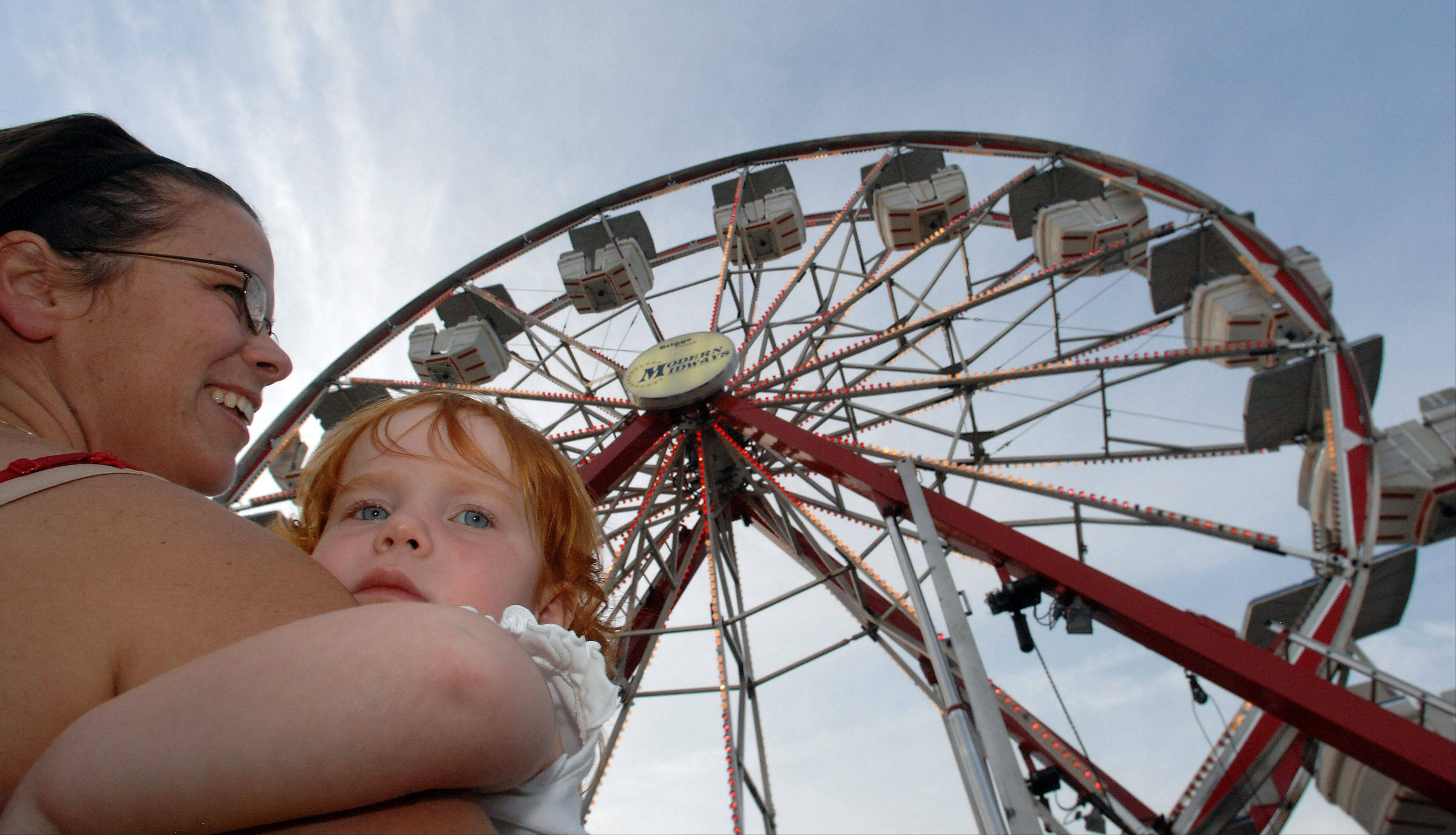 This Ferris wheel was part of the carnival at the 2010 St. Zachary Church Augustfest in Des Plaines.