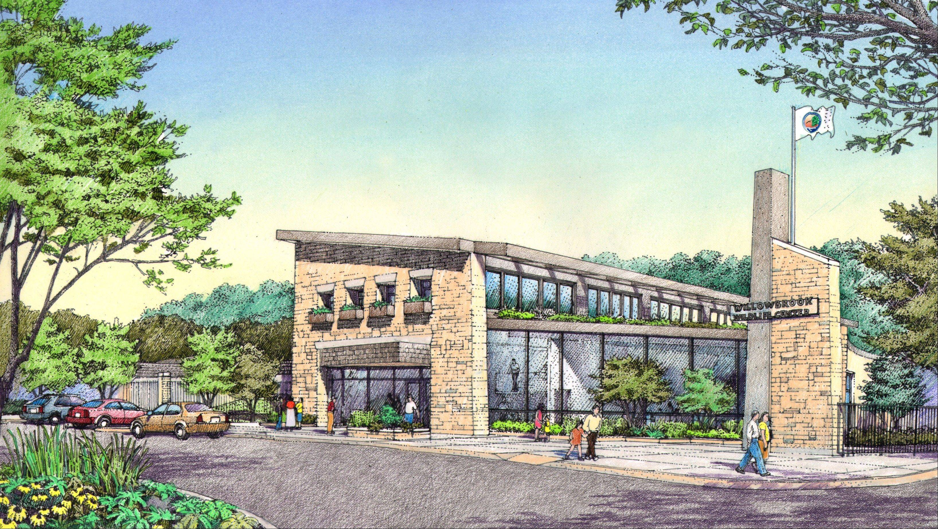 An updated service center and parking lot are included in the first phase renovations scheduled to begin by early September at the Willowbrook Wildlife Center in Glen Ellyn.