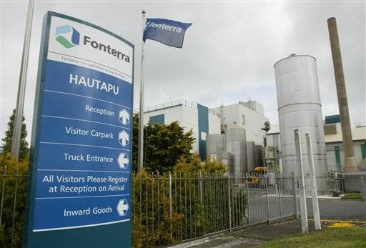 Fonterra's Hautapu dairy factory is seen in the Waikato, New Zealand. New Zealand authorities have triggered a global recall of up to 1,000 tons of dairy products across seven countries after Fonterra, the world's fourth-largest dairy company, announced tests had turned up a type of bacteria that could cause botulism. New Zealand's Ministry of Primary Industries said Saturday, Aug. 3, 2013 that the tainted products include infant formula, sports drinks, protein drinks and other beverages. It said countries affected beside New Zealand include China, Australia, Thailand, Malaysia, Vietnam and Saudi Arabia.