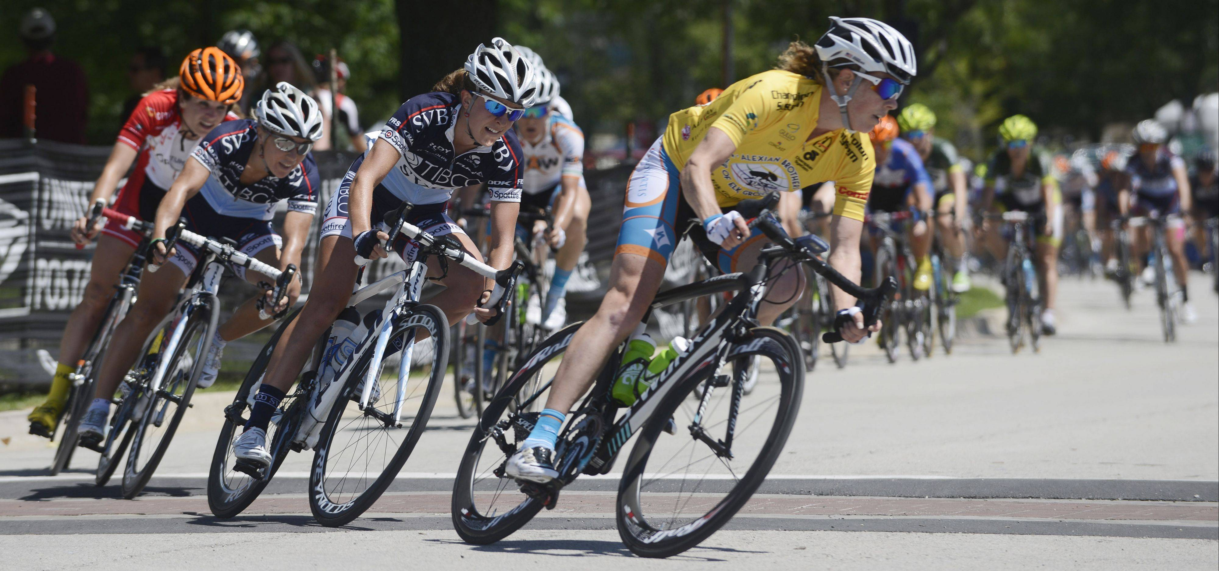 Nearly 60 riders compete Saturday in stage two of the women's pro three-day, three-stage race, a 45.3-mile criterium, at the Tour of Elk Grove.