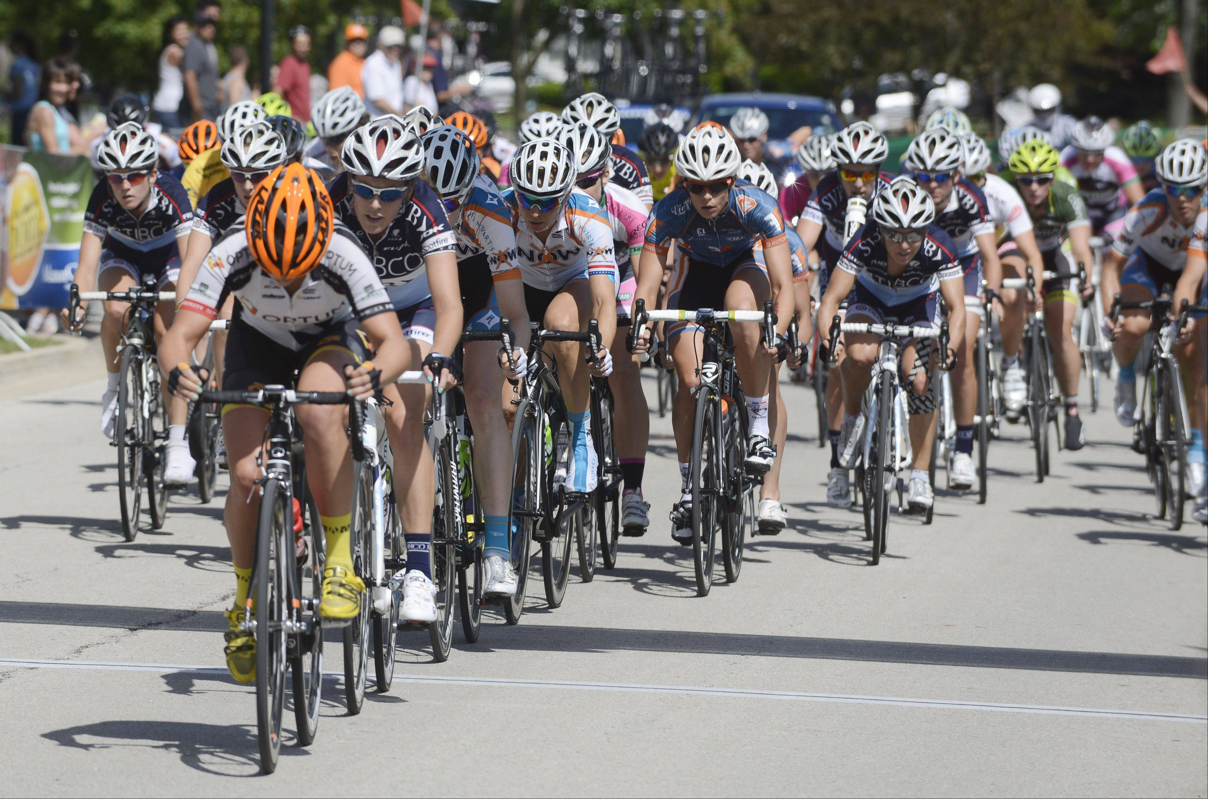 Riders compete Saturday in stage two of the women's pro three-day, three stage race, a 45.3-mile criterium, of the Tour of Elk Grove.