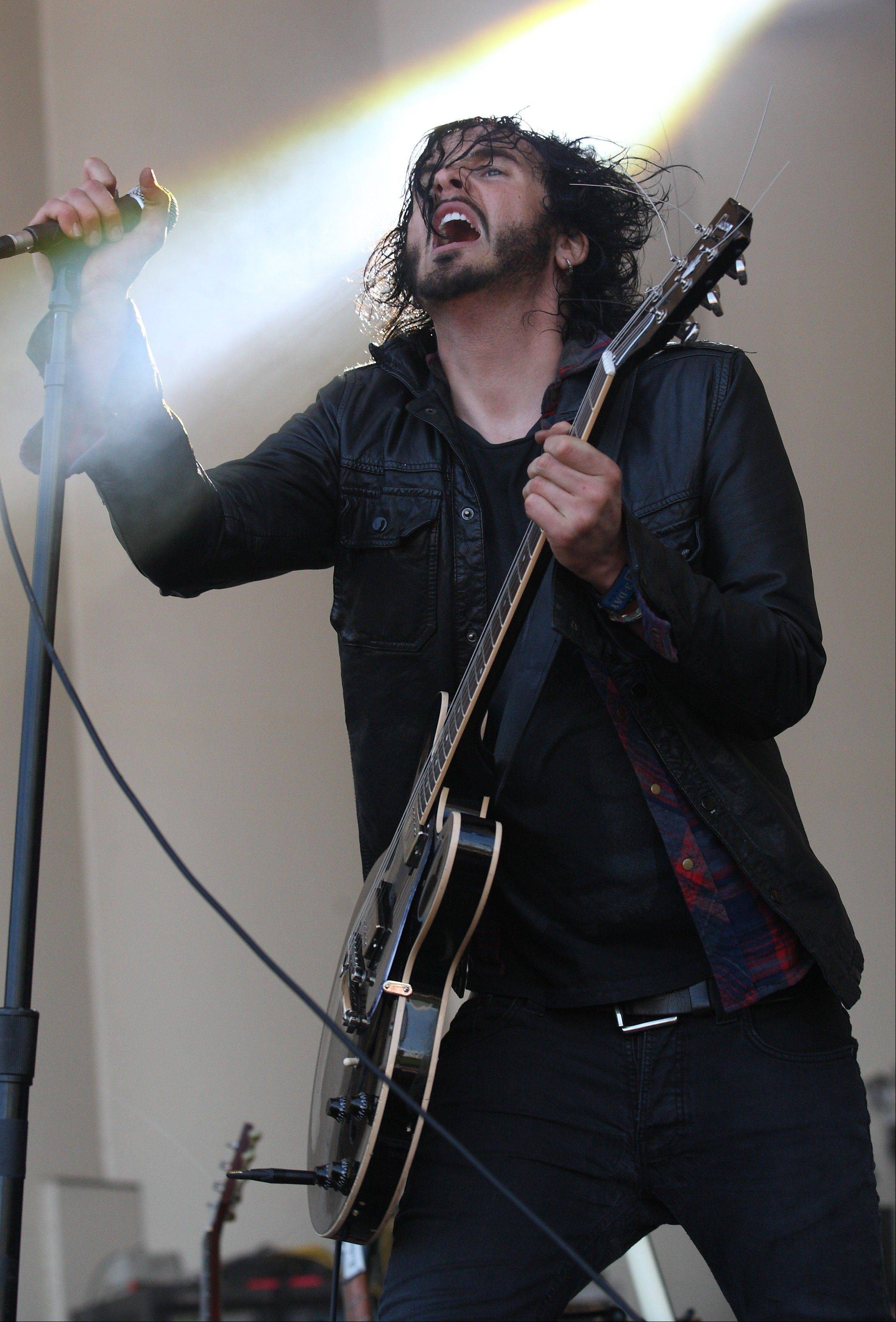 Jordan Cook of the Band Reignwolf performs on day 2 of Lollapalooza 2013 at Grant Park on Saturday, Aug.3, 2013 in Chicago.