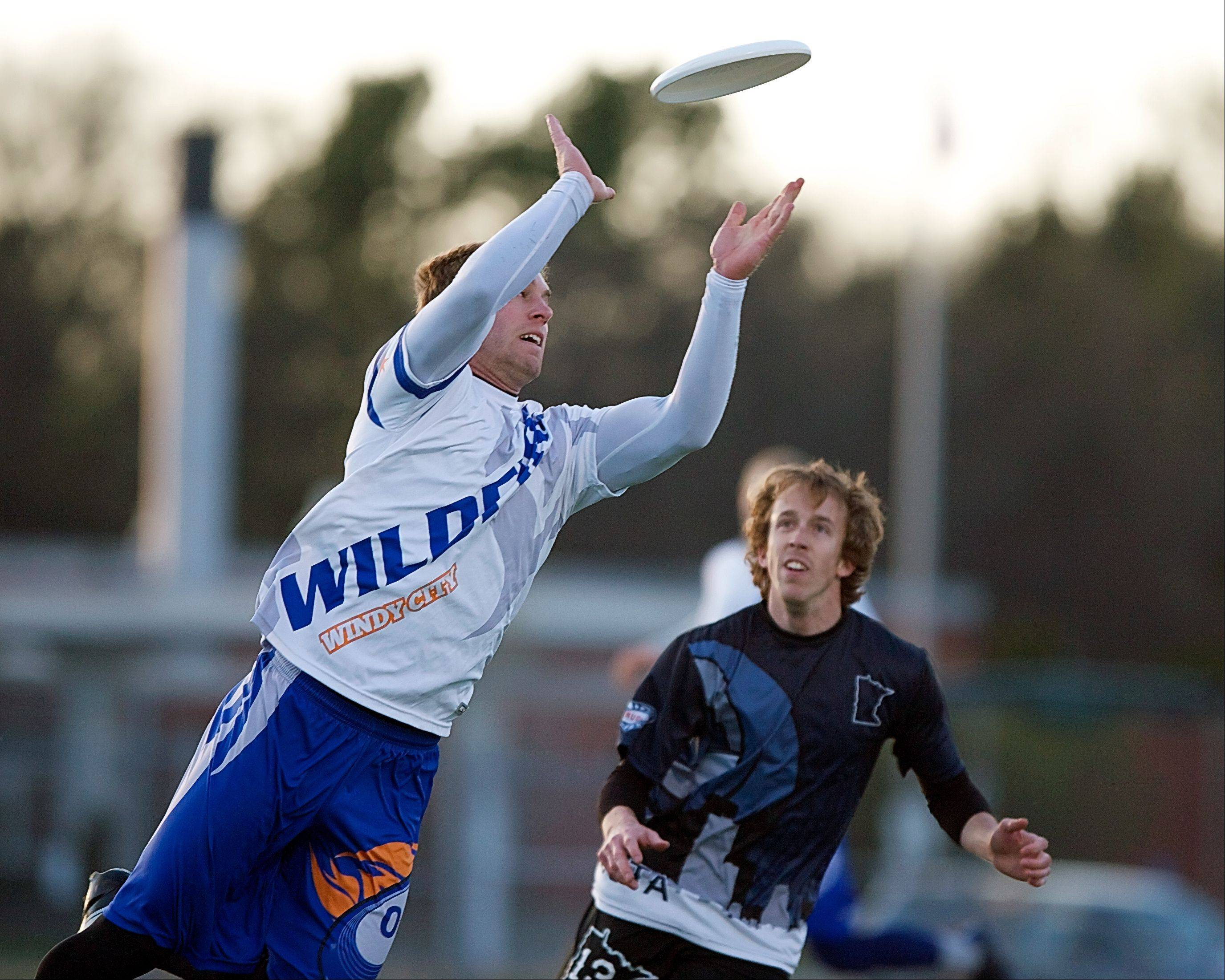 "Jonathan ""Goose"" Helton of Naperville plays for the Windy City Wildfire, which is up for the American Ultimate Disc League championship today. Helton was the league MVP in 2012."