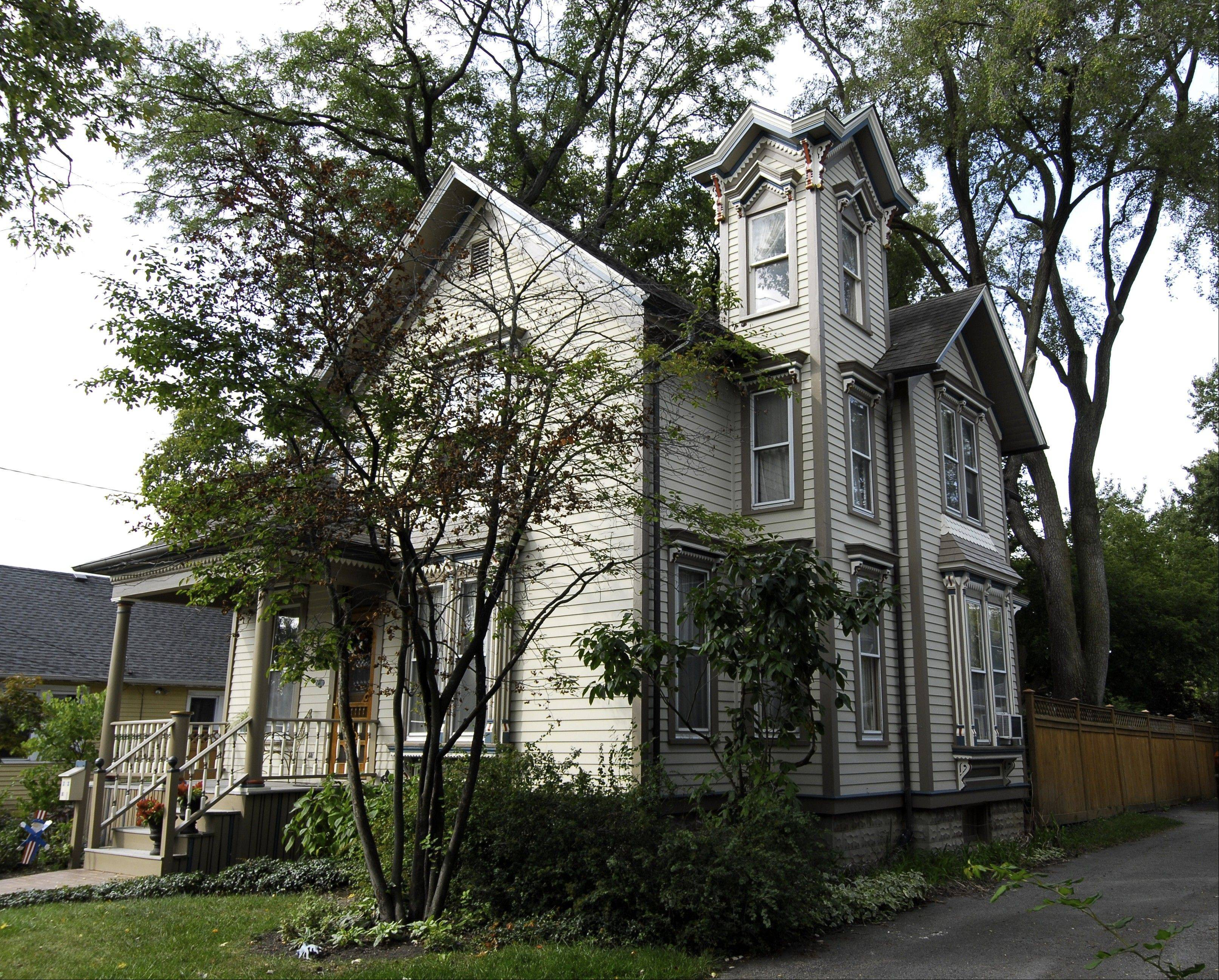 This Victorian home in Barrington won a grand prize in the Schaumburg-based Chicago Paint and Coatings Association's annual Painted Ladies competition in 2009.