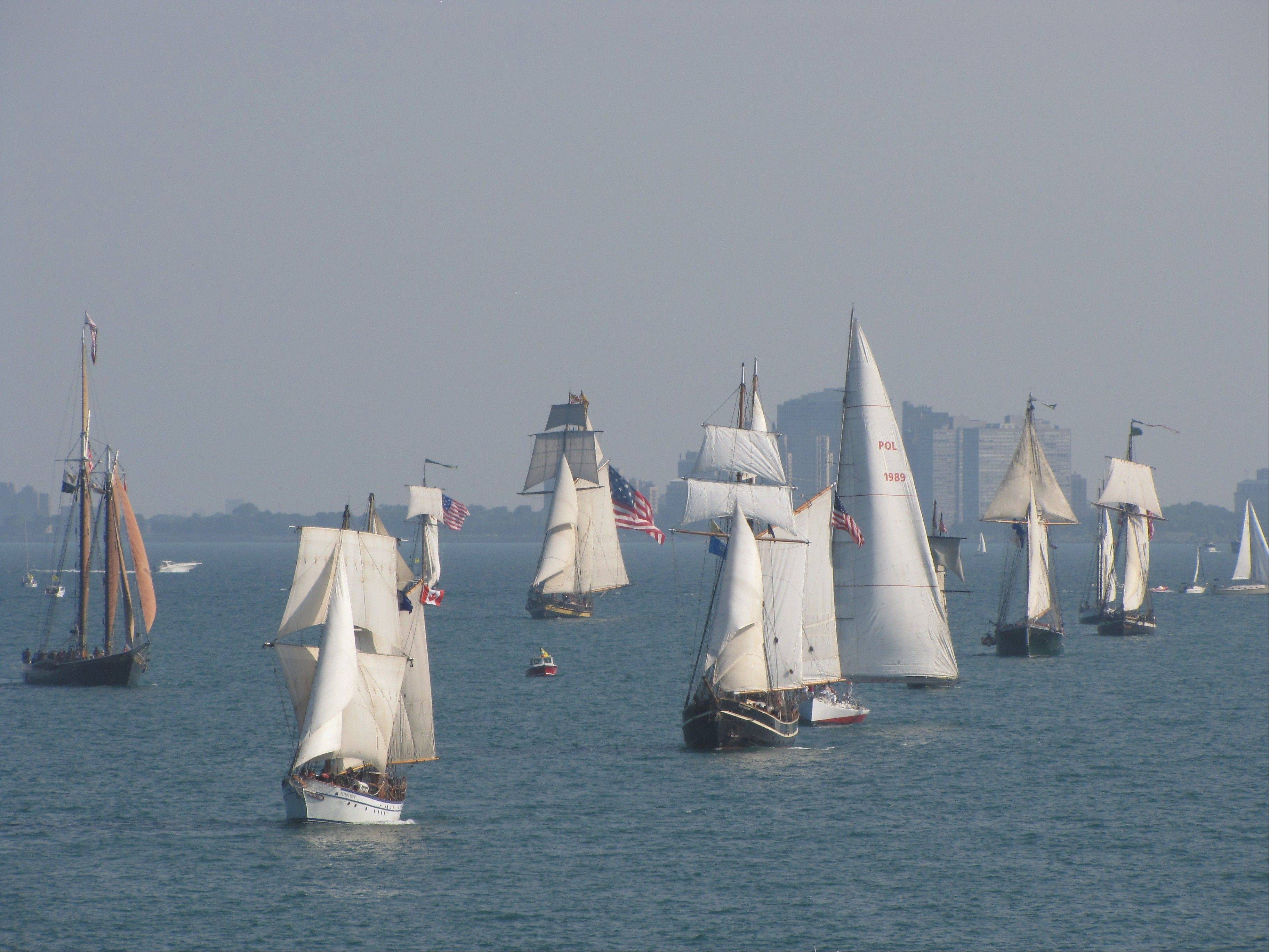 The Parade of Sail kicks off the five days of festivities at Navy Pier.