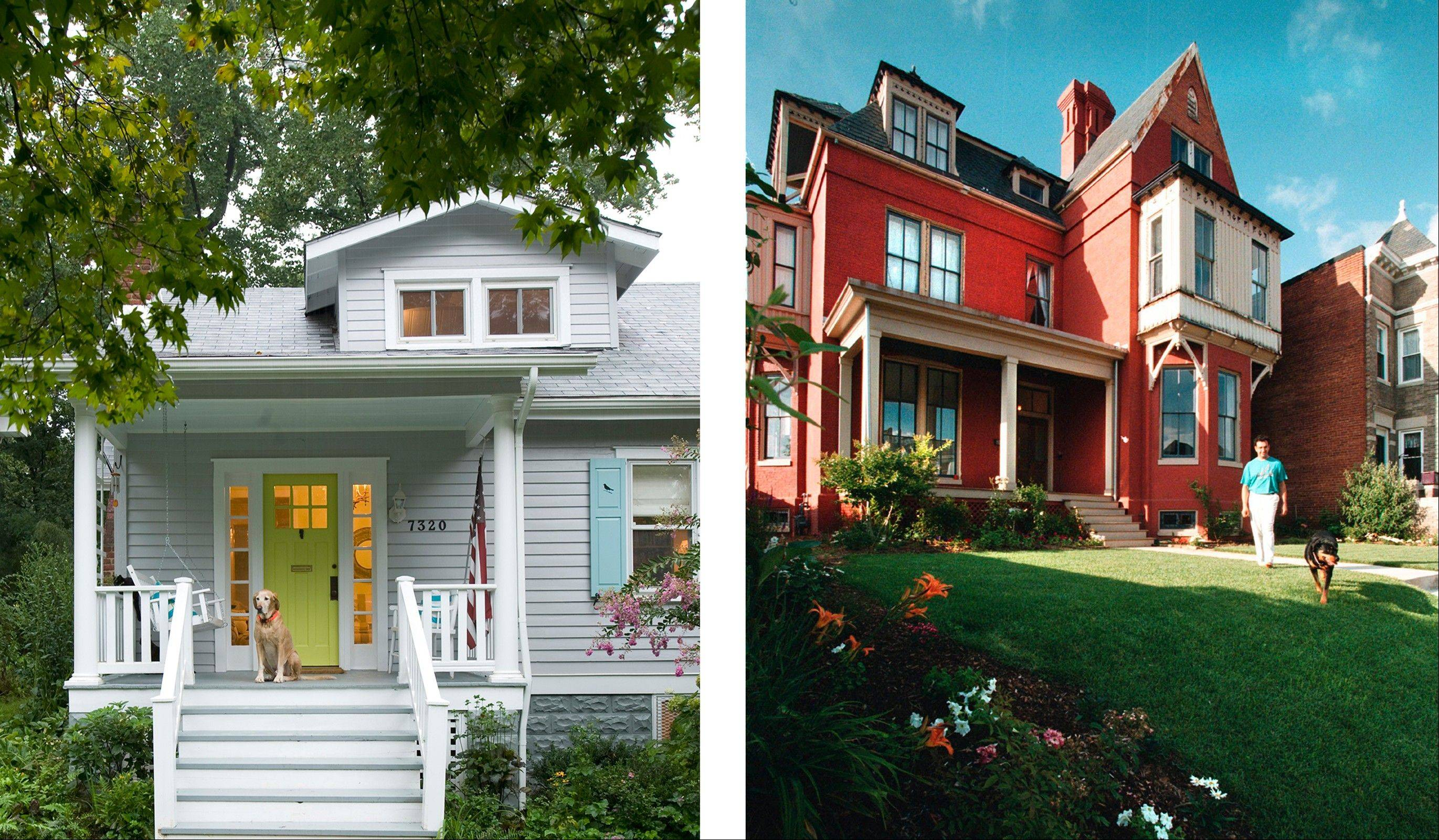 Knowing the style of a home can be helpful for buying, selling, remodeling or decorating; left, a bungalow-style home in Washington, D.C.; right, a Victorian home, also in Washington.