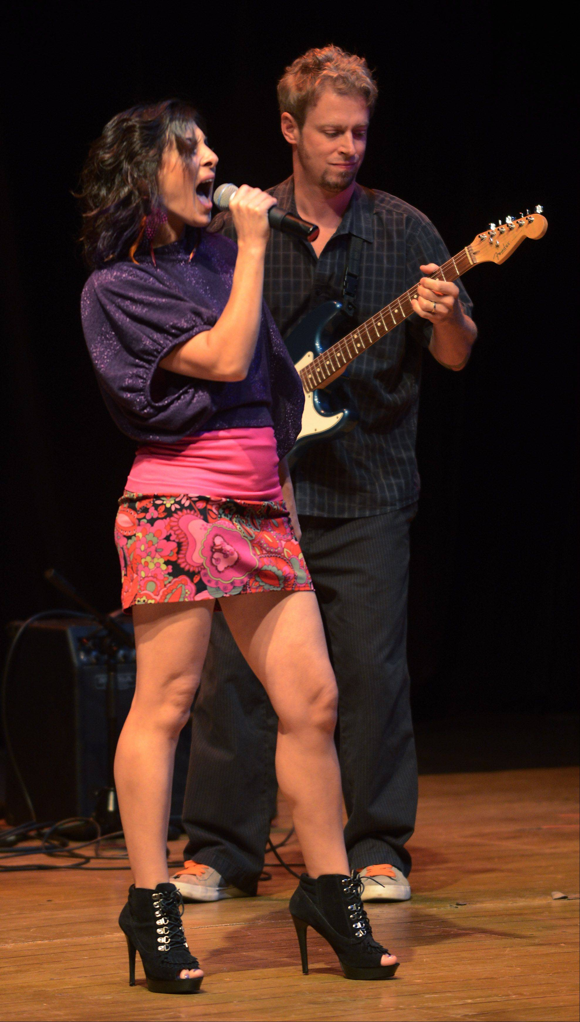 Sean and Karen (Slavin) take the stage as the top 10 finalists of Suburban Chicago's Got Talent perform at the Metropolis Performing Arts Centre in Arlington Heights Sunday.