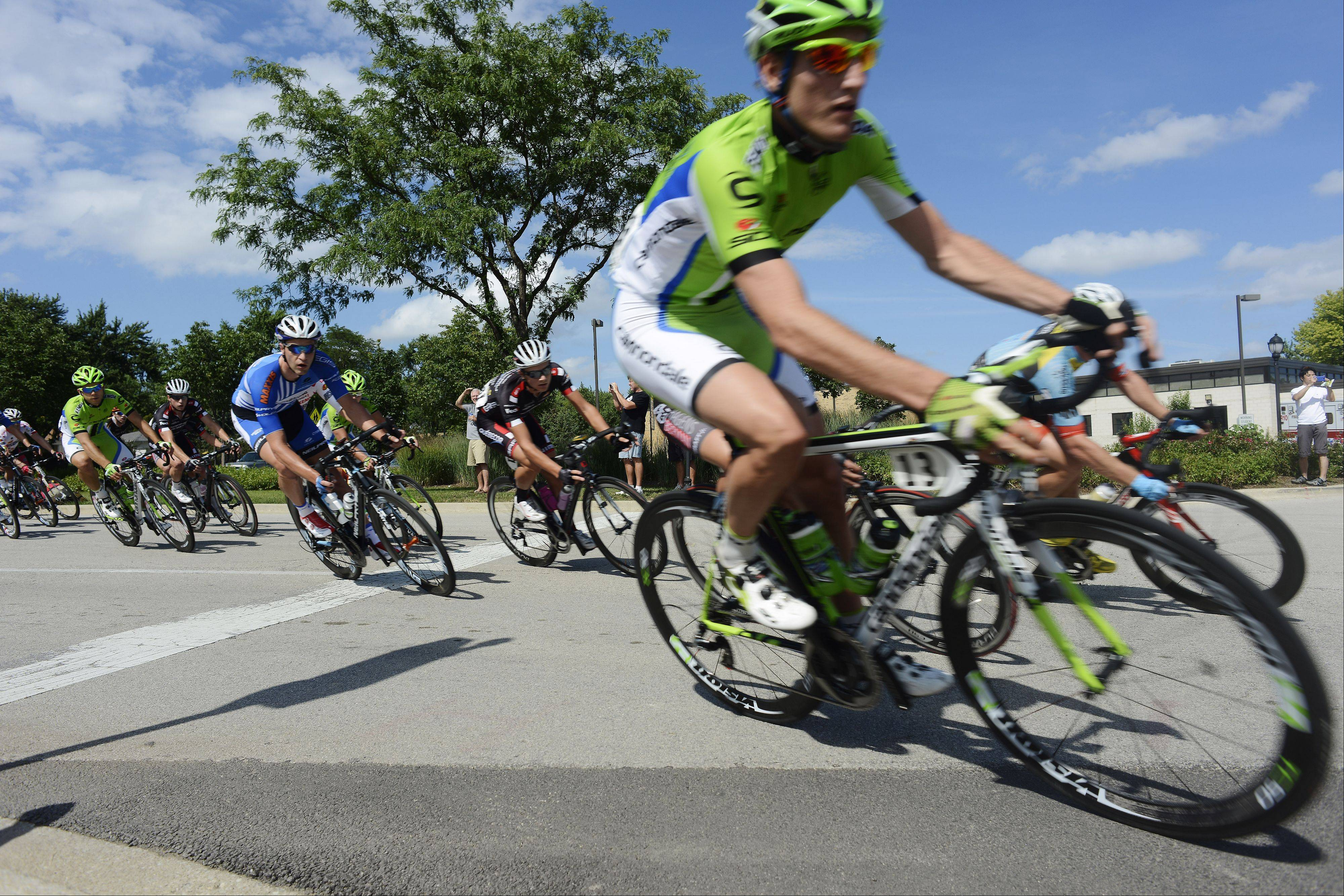 Cyclists compete Sunday in the Gullo International Pro Men Circuit Race, Stage 3, during the Tour of Elk Grove.
