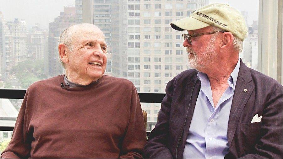 "Casting directors like Lynn Stalmaster, right, pictured with director Norman Jewison, get their due in the documentary ""Casting By."" Stalmaster helped launch the career of John Travolta and others."