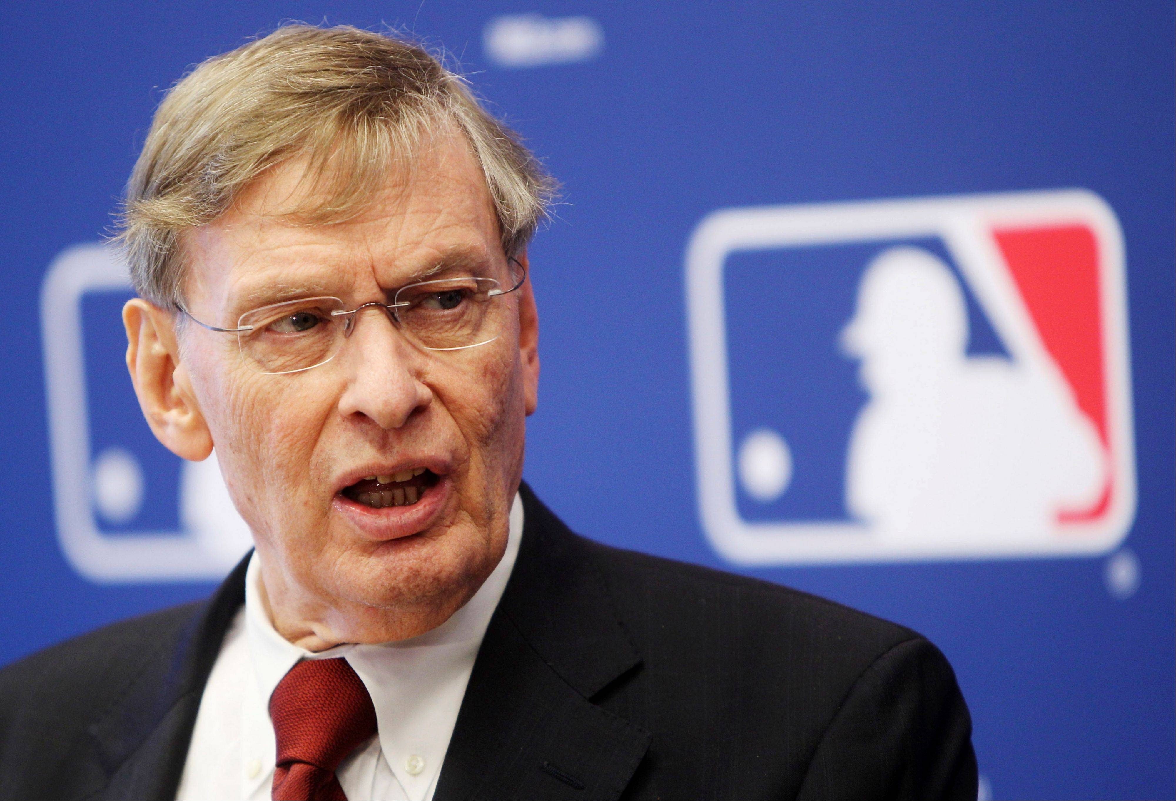 "Major League Baseball Commissioner Bud Selig says ""Baseball must do everything it can to maintain integrity, fairness and a level playing field."""