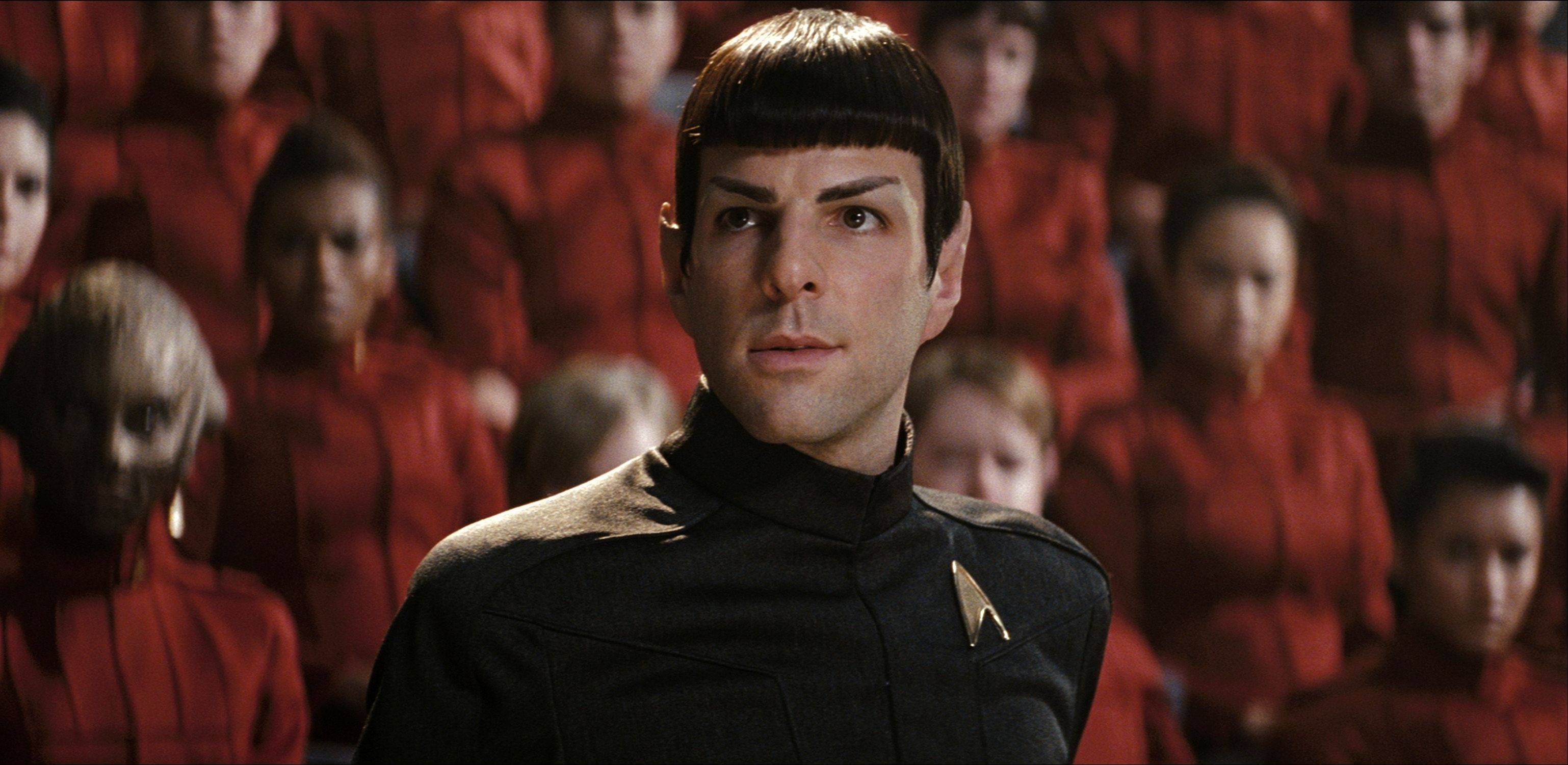 "Zachary Quinto stars as Spock in ""Star Trek."""