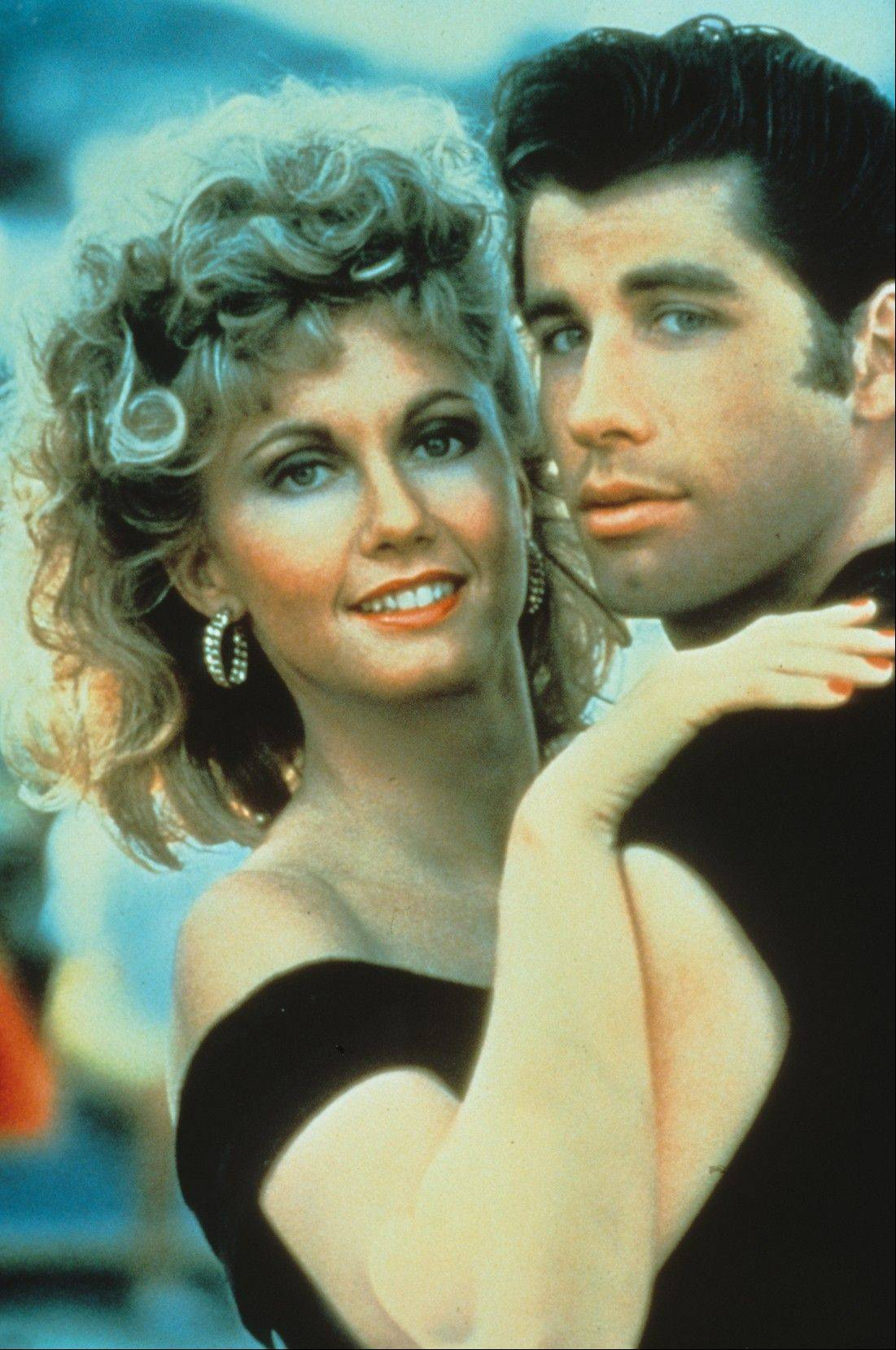 "Olivia Newton-John and John Travolta star in the hit film musical ""Grease!"""