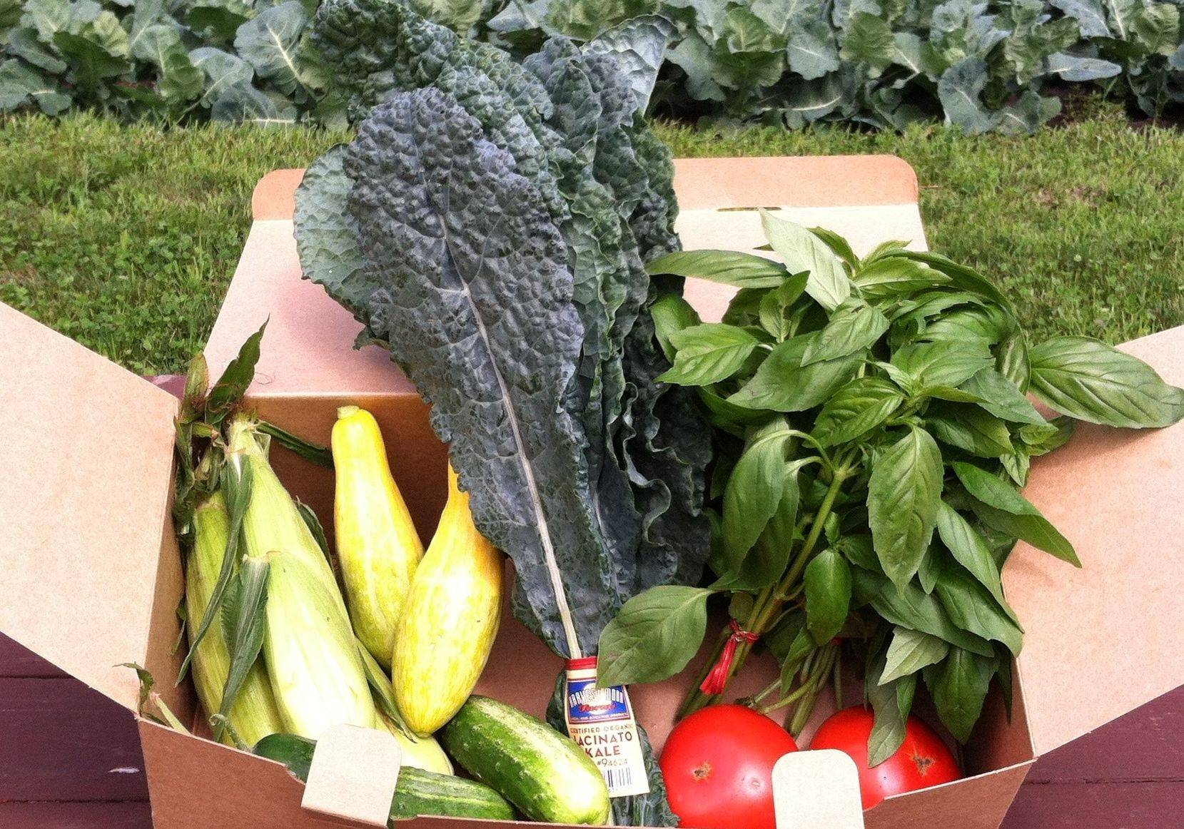Organic and heirloom produce is available in CSA-style boxes at peapod.com.