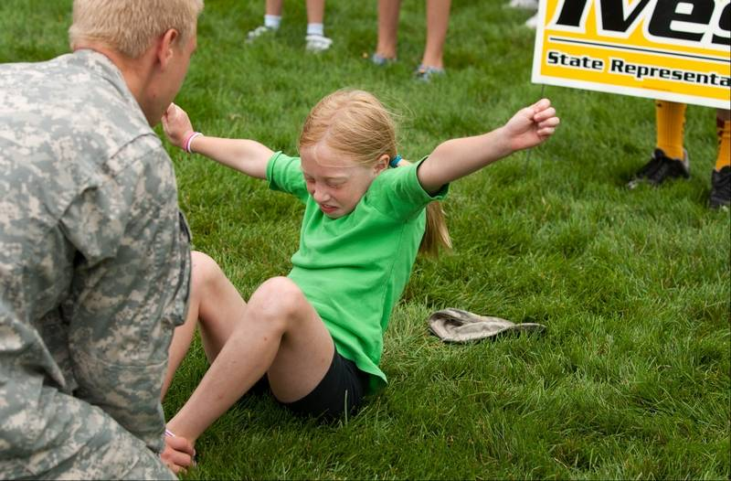 Ives gives kids taste of health and fitness boot camp