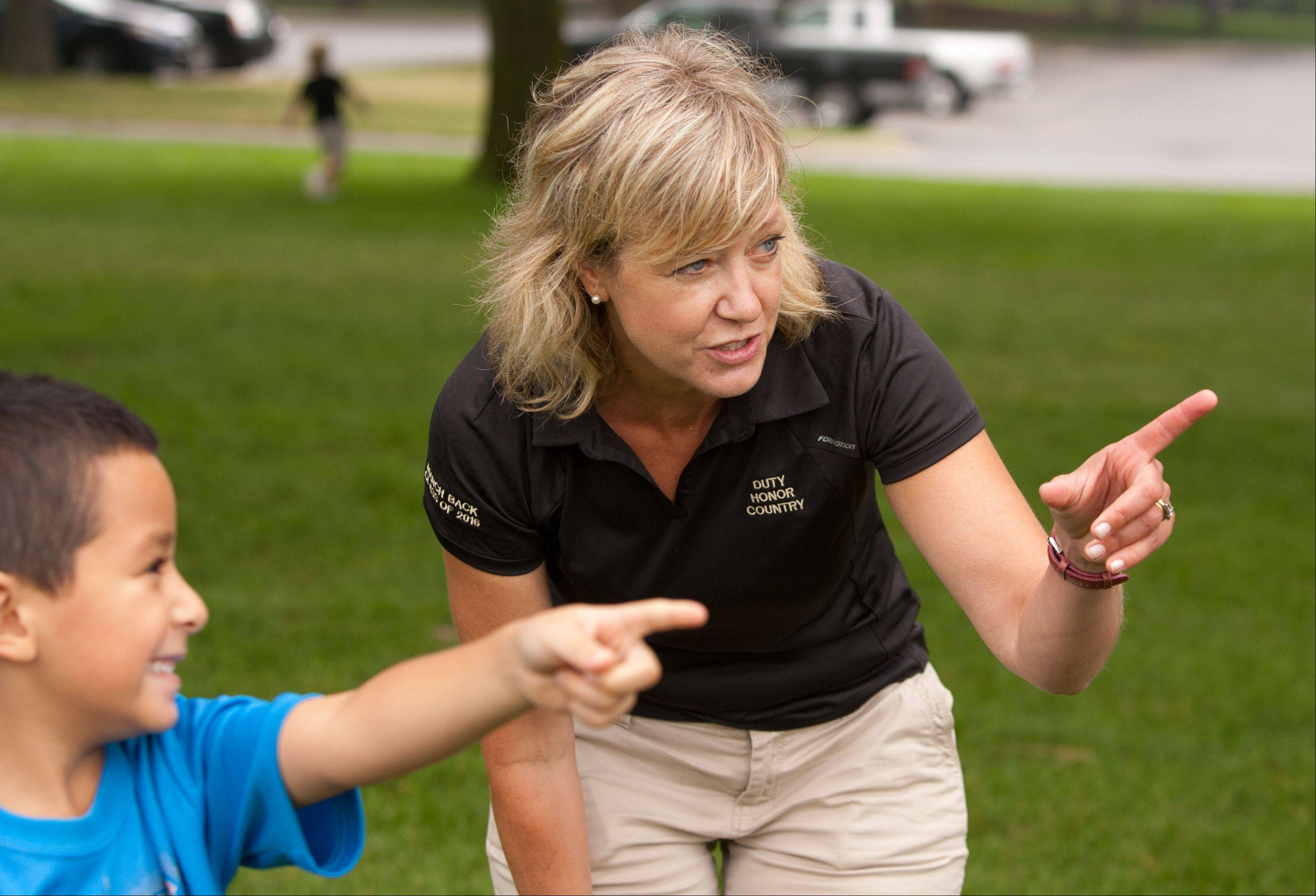 State Rep. Jeanne Ives organized a health and fitness boot camp for children ages 3 through 12 at Cantigny Park in Wheaton. Daniel Guevara, 6, of West Chicago, was one of the participants.
