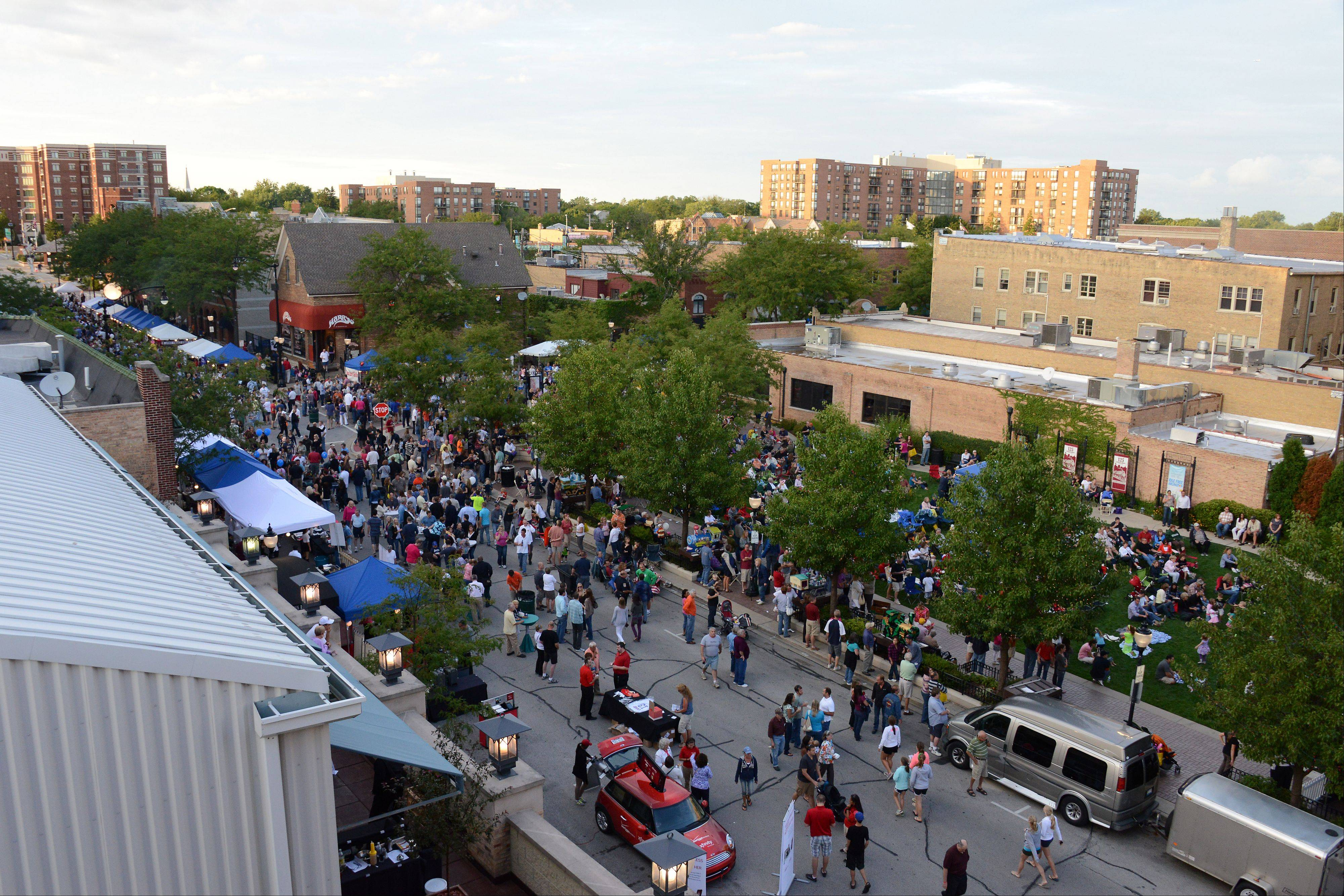 Downtown Arlington Heights during the 2012 Mane Event.
