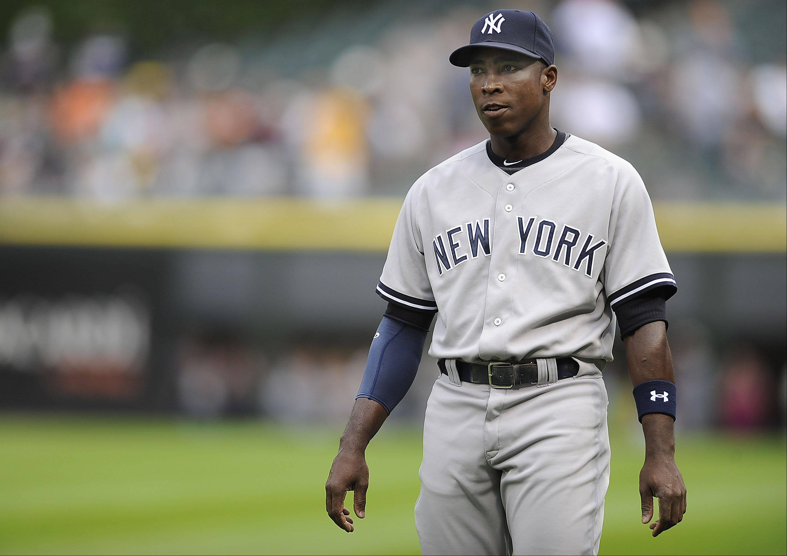 Former Cub Alfonso Soriano, now back with the Yankees, was happy to return to Chicago on Monday.