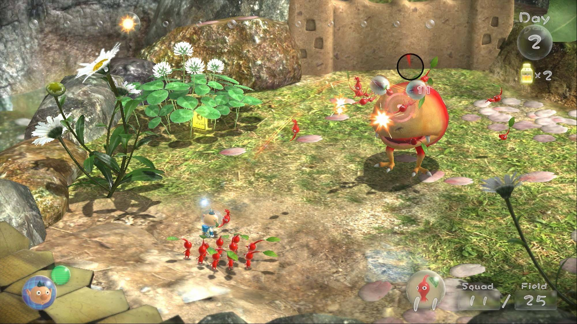 "Unfortunately for ""Pikmin 3,"" some of the quirks from the earlier incarnations still haven't been resolved."