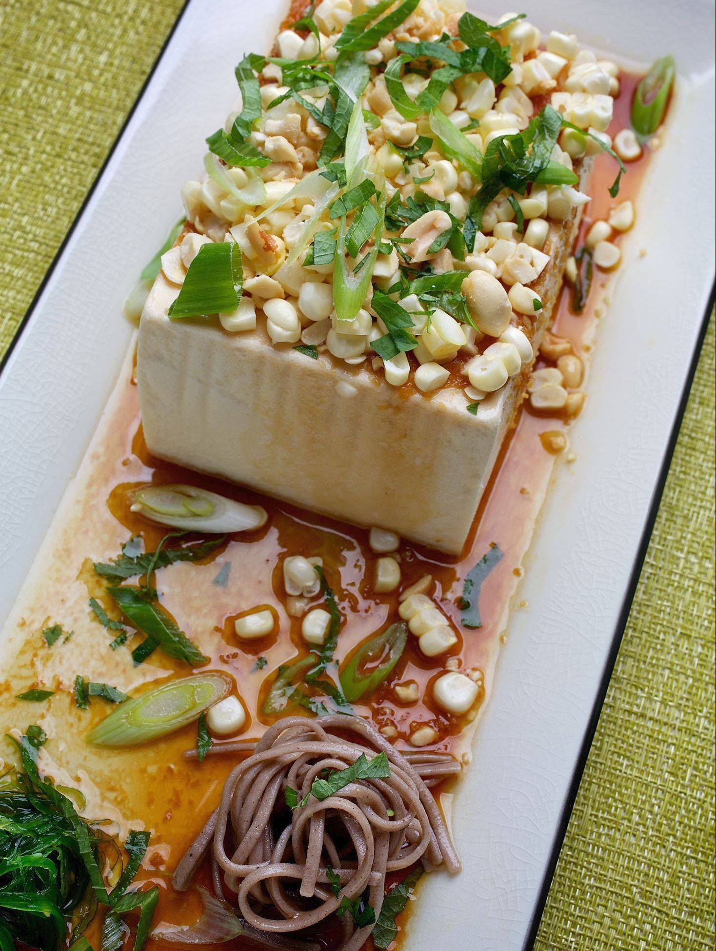 Chilled Tofu With Spicy, Crunchy Topping hits the spot when the temperature spikes.