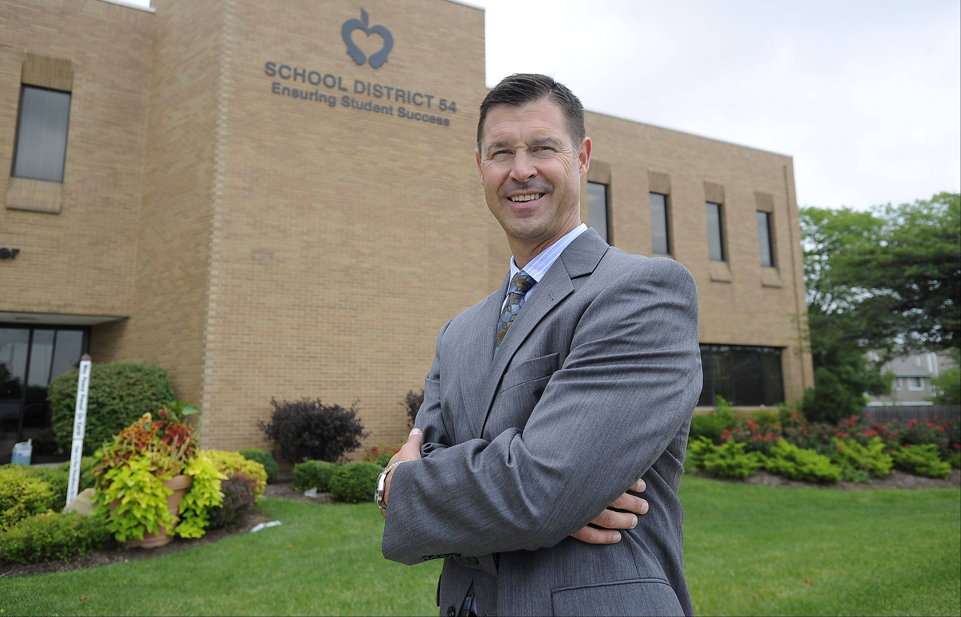 New Schaumburg Township Elementary District 54 Superintendent Andy DuRoss.