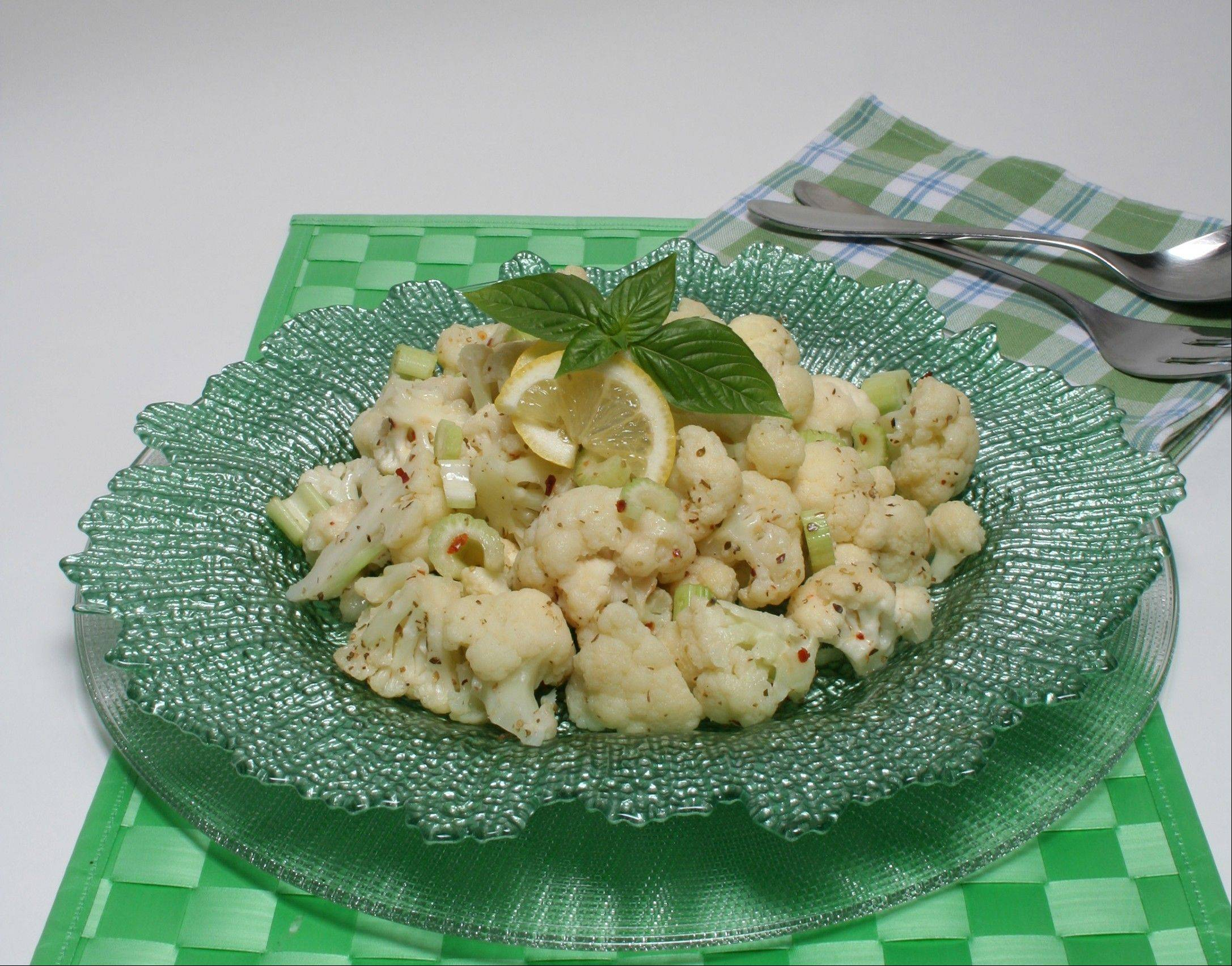 For a cool summer side dish, try this chilled cauliflower salad.