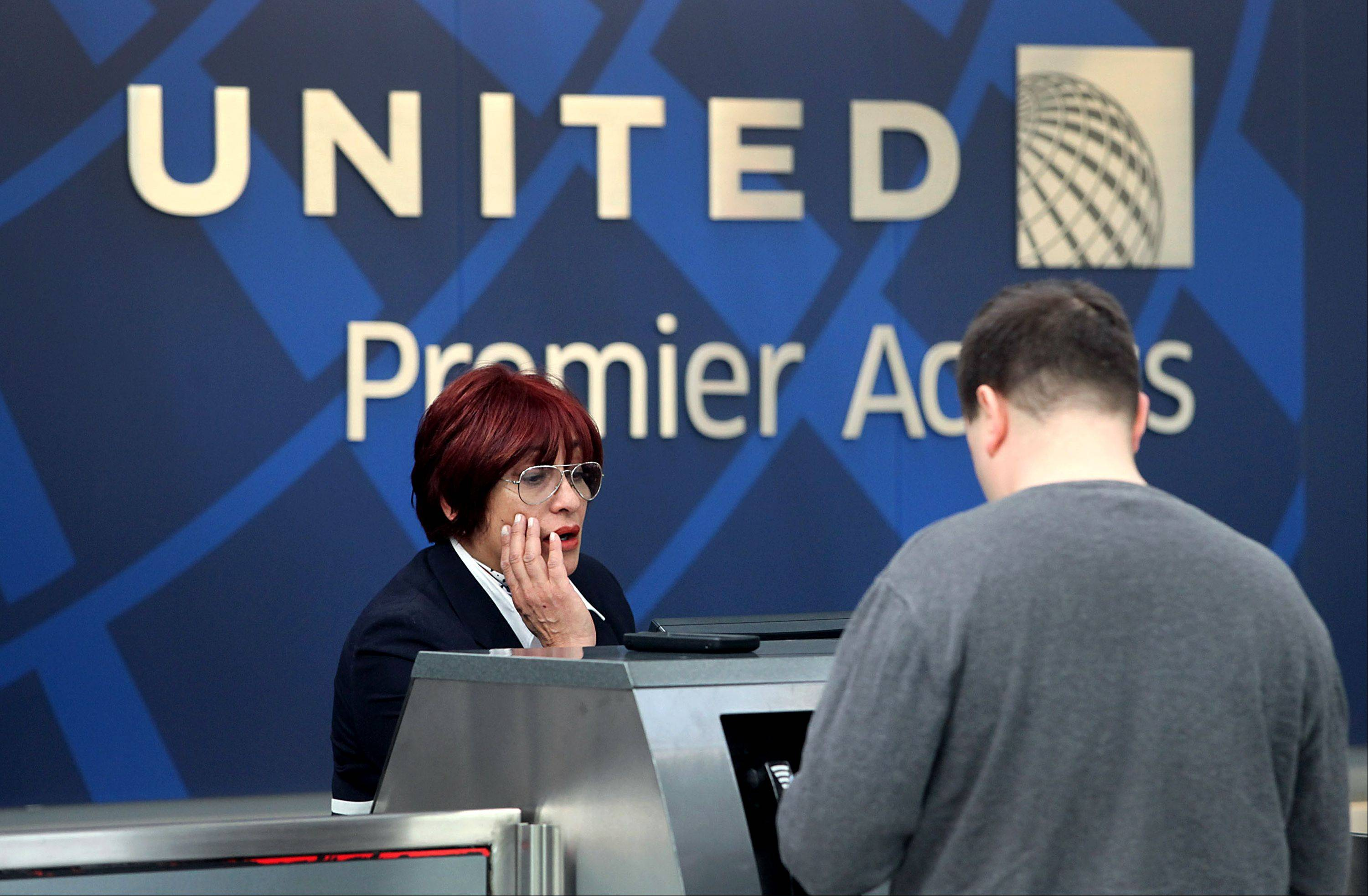 Chicago-based United Airlines said a key measure of revenue rose as much as 4.5 percent in July, even as traffic fell.