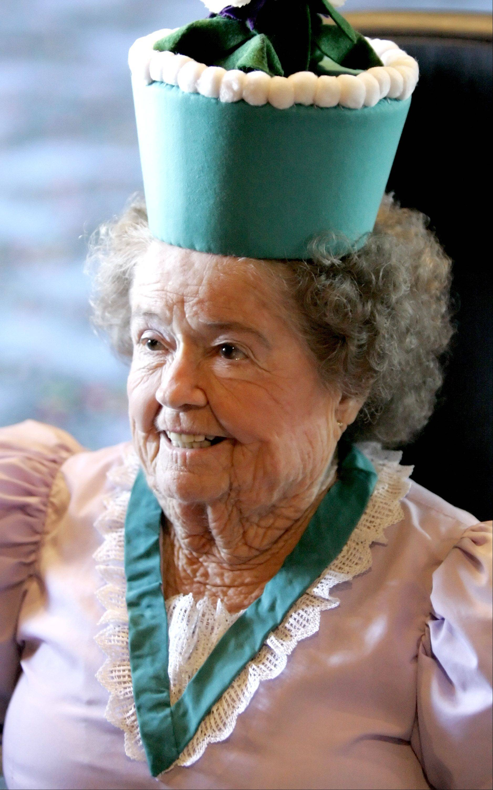 Margaret Pellegrini, one of the munchkins that appeared in the film The Wizard of Oz. She and three others visited Woodridge in November 2005 for a showing of the film this weekend.