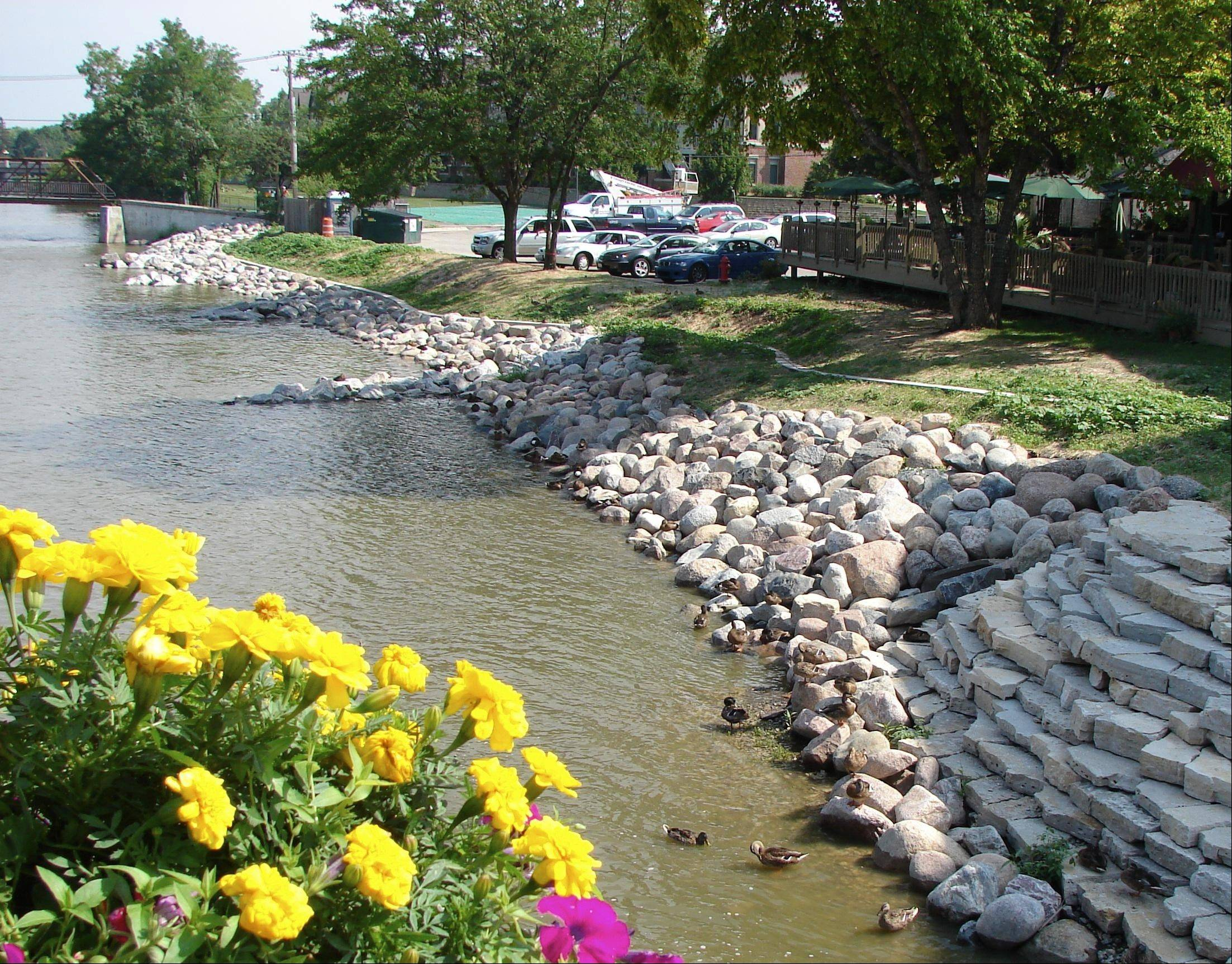 Fundraising efforts have yielded small improvements along the river, including natural plantings and expanded pedestrian use for walking, running and fishing.