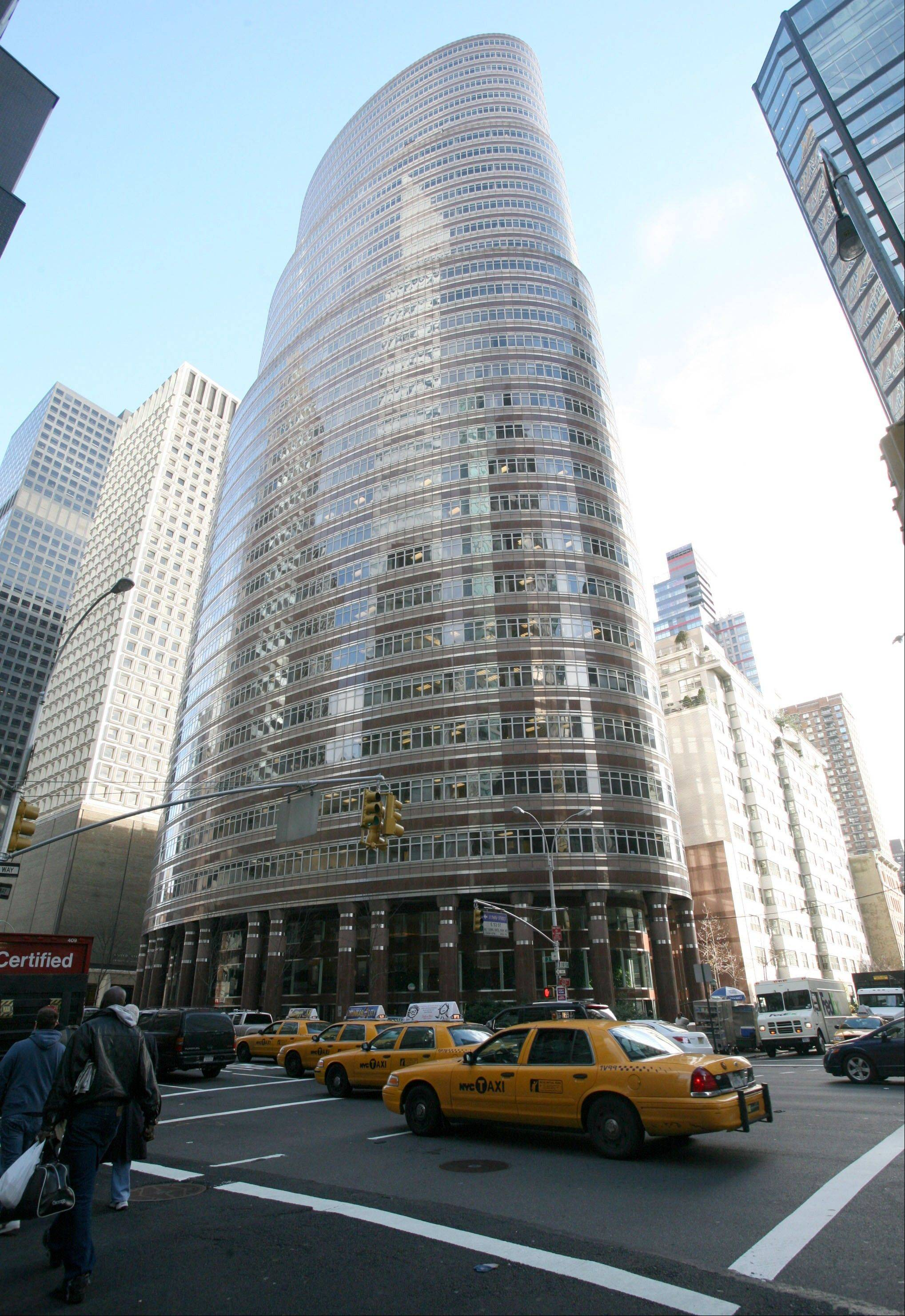 The building where Bernard L. Madoff Investment Securities LLC, have their offices is seen in New York.