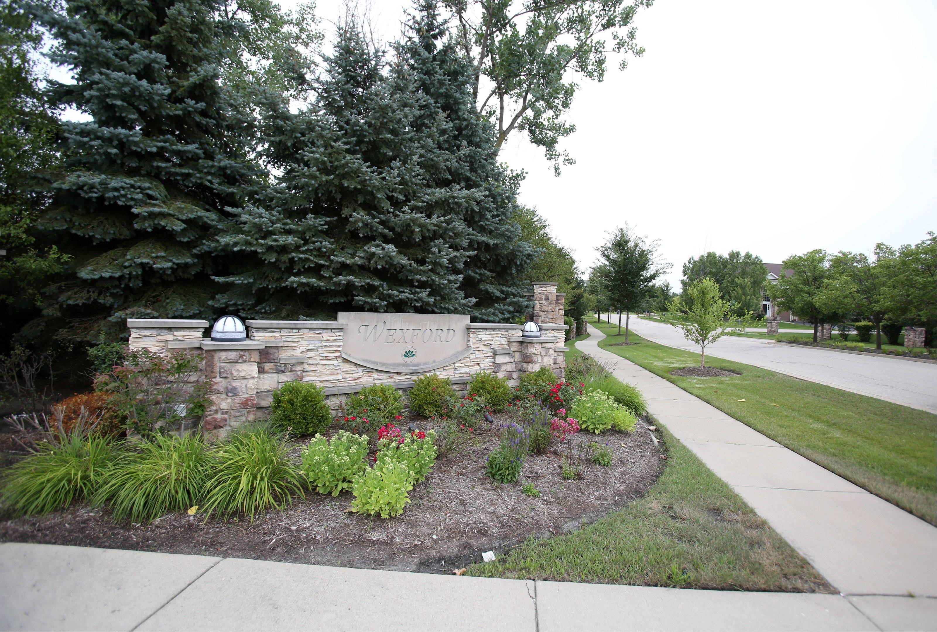 The Wexford subdivision along Euclid Avenue straddles the line between Palatine and Rolling Meadows.