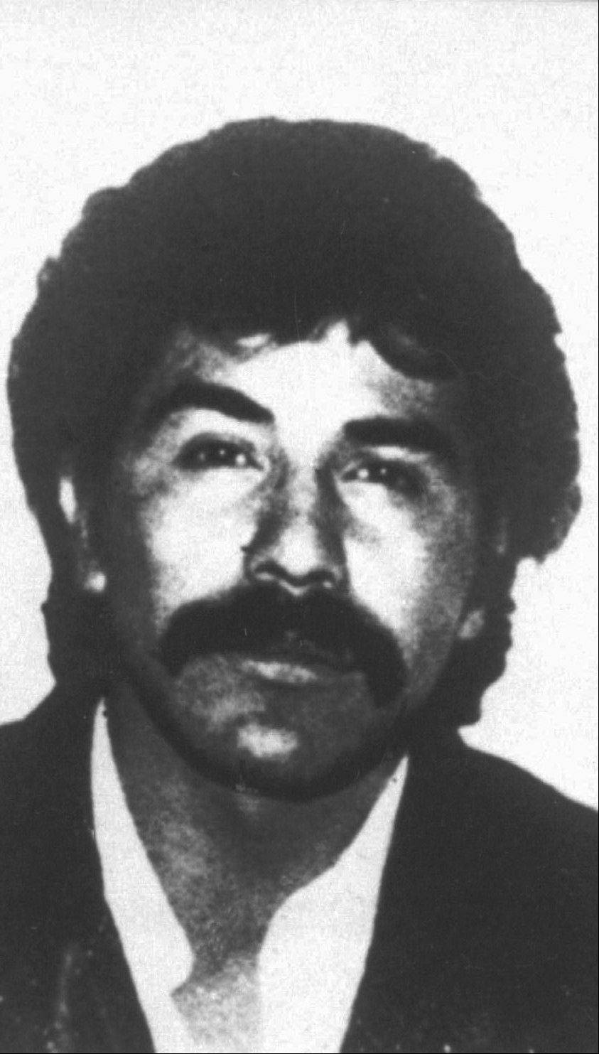 This undated file photo distributed by the Mexican government shows Rafael Caro Quintero, considered the grandfather of Mexican drug trafficking.