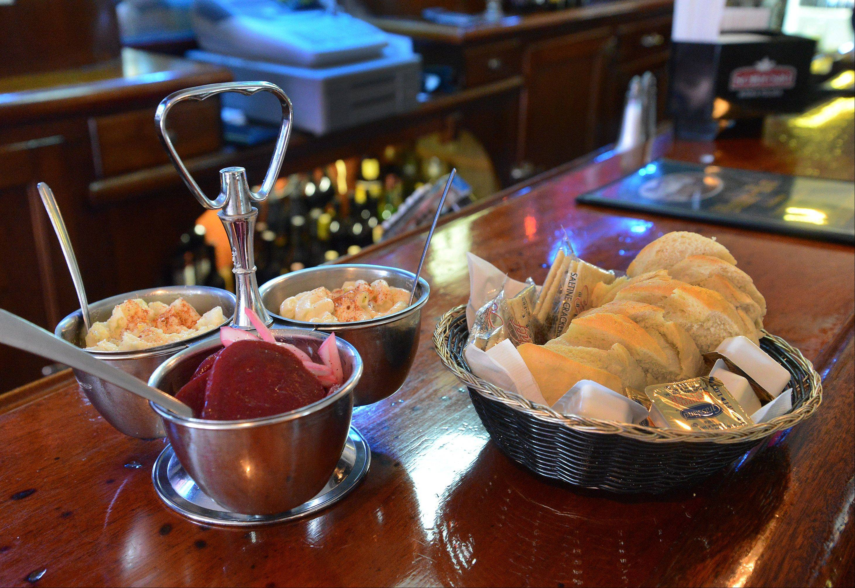 A relish tray starts dinners at Wunder-Bar in Antioch.