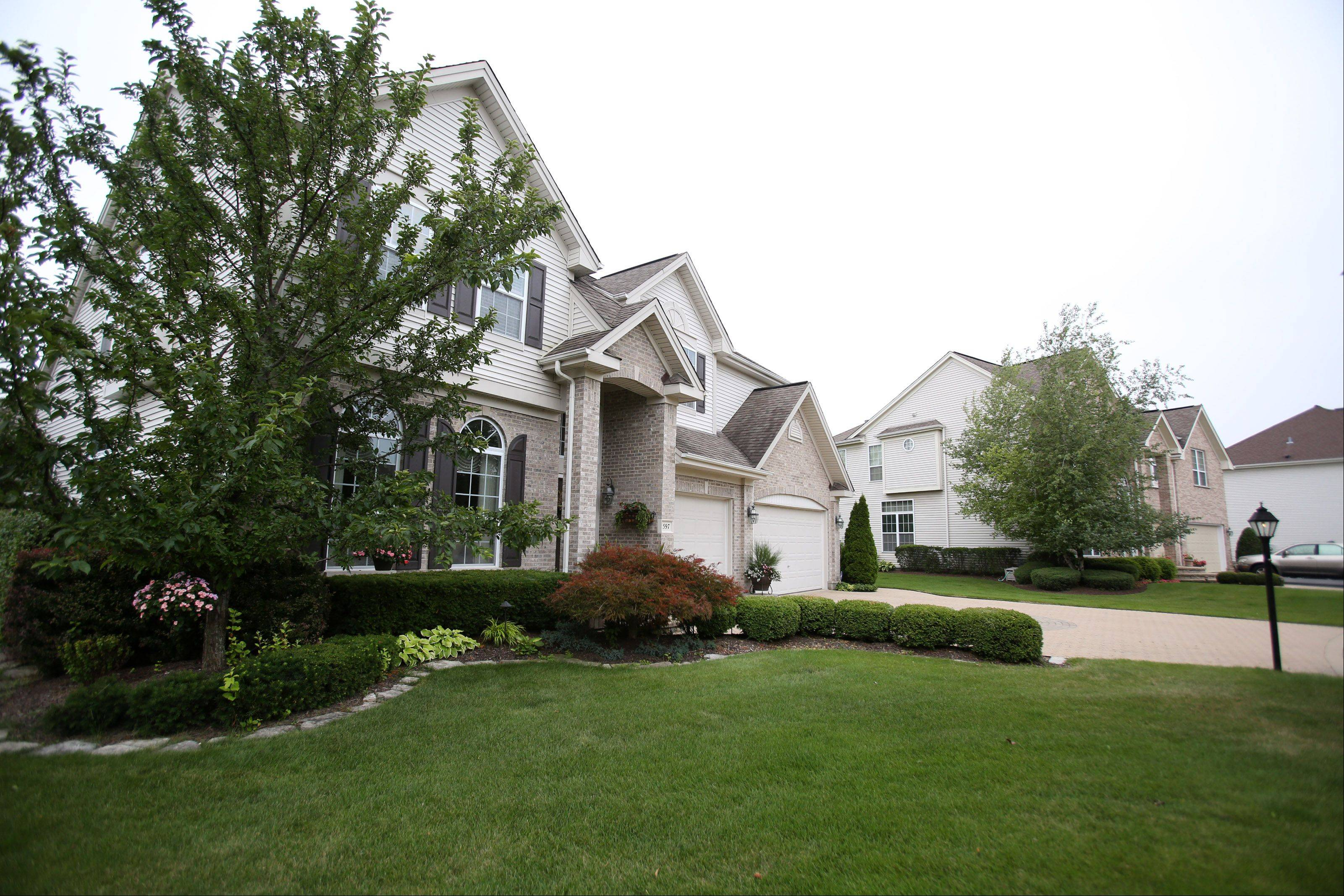 Some of Palatine's larger homes with expansive lots are found in Wexford. These houses are located on West Slippery Rock Road.