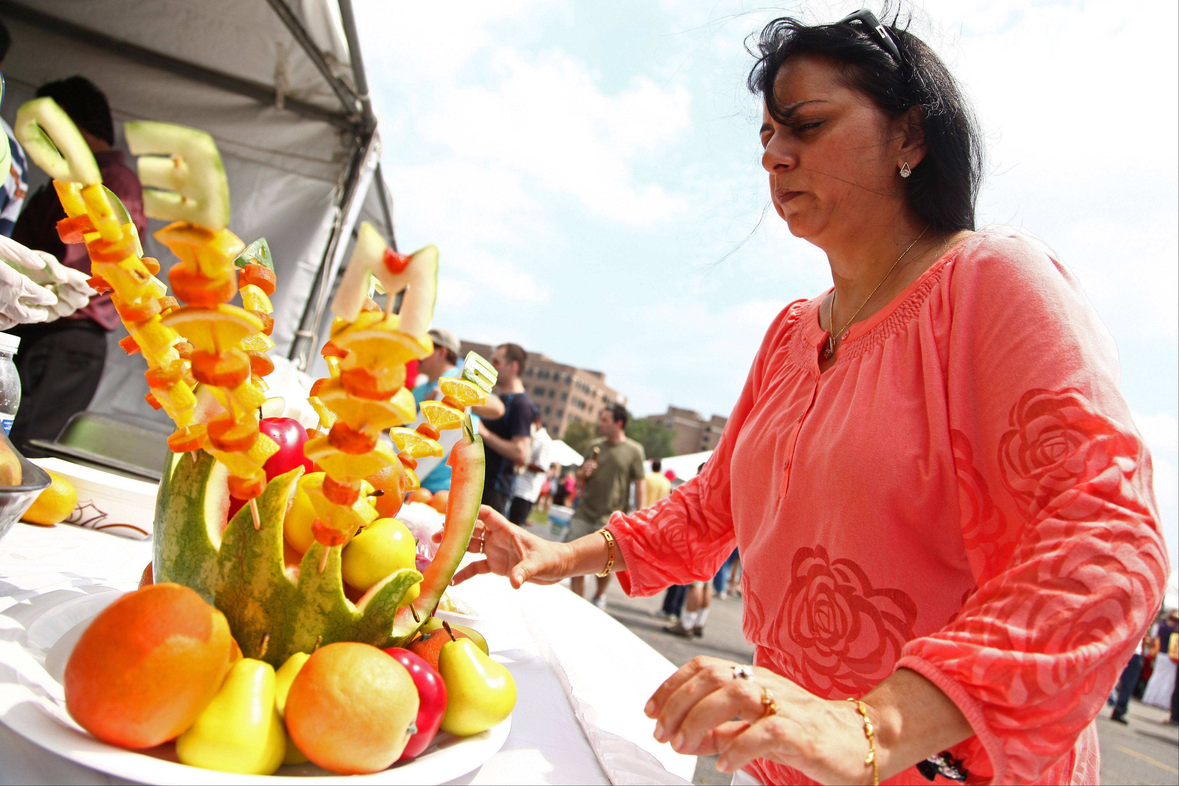 Fruit sculptures, falafel and vegetarian dishes from India, Italy, Mexico and other countries will be on display and for sale Saturday and Sunday at the eighth annual Veggie Fest hosted by Science of Spirituality Meditation Center, 4S175 Naperville Road in Naperville.