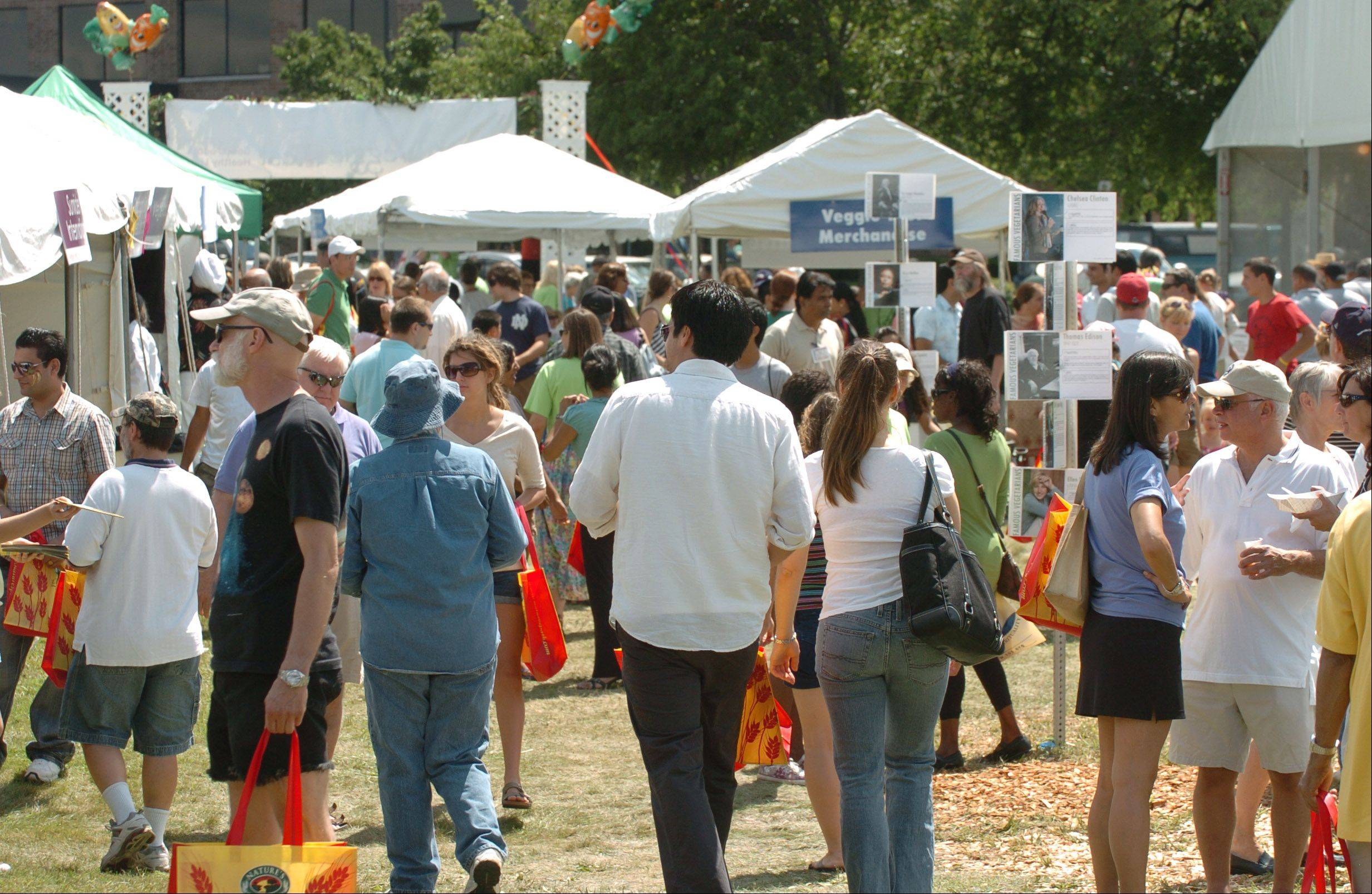 Last year's Veggie Fest in Naperville drew 25,000 people over two days, and organizers expect similarly large crowds at this year's festival from 11 a.m. to 8 p.m. Saturday and Sunday at Science of Spirituality Meditation Center, 4S175 Naperville Road.