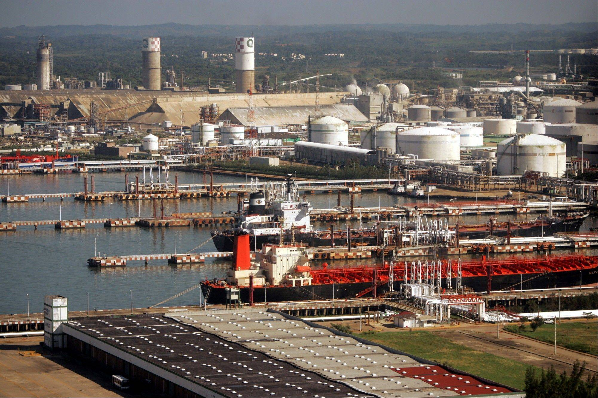Los Pajaritos petrochemical complex that belongs to Mexico's state-owned oil company Petroleos Mexicanos (Pemex) in Coatzacoalcos in the state of Veracruz, Mexico.