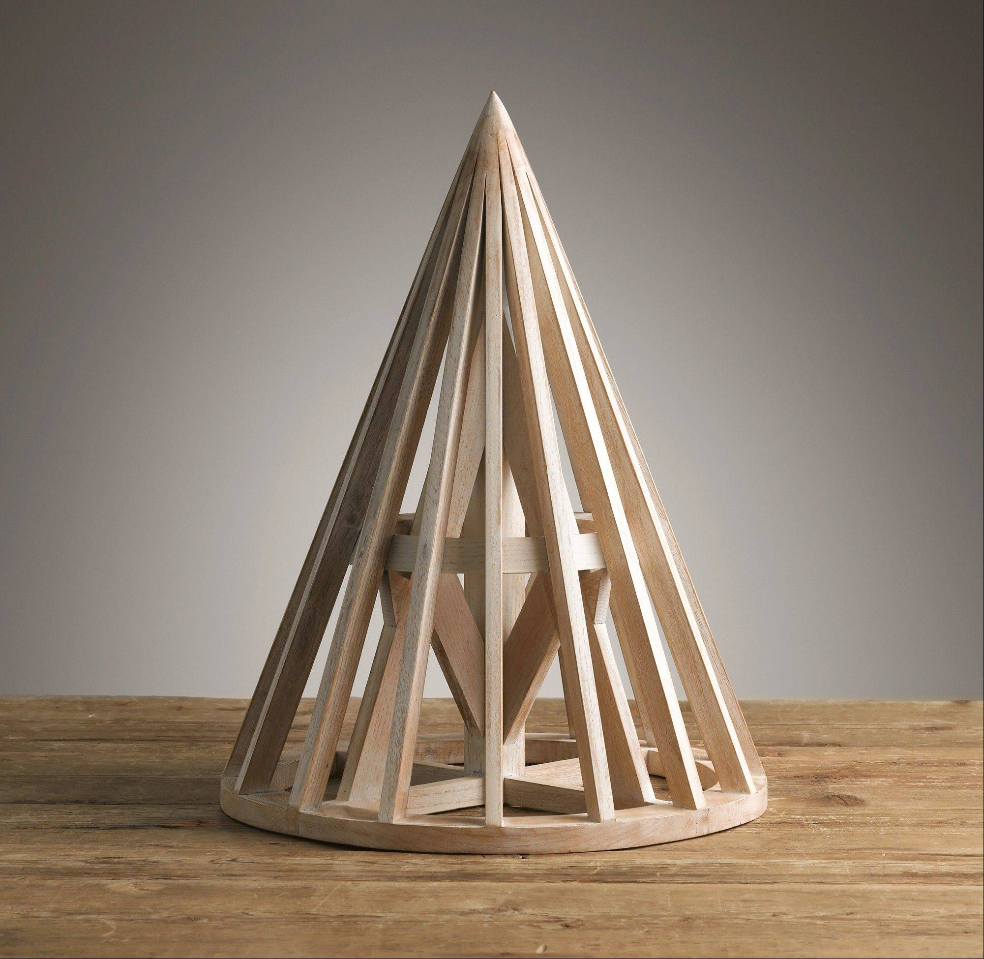 This Belgian wooden maquette is a scaled replica of a model used by an architect to study form, structure and proportion. Geometric shapes are strong decor elements for autumn.