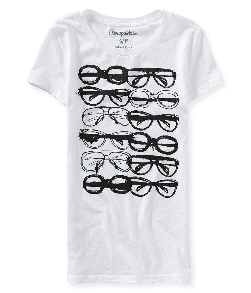 A T-shirt with a sunglasses design.
