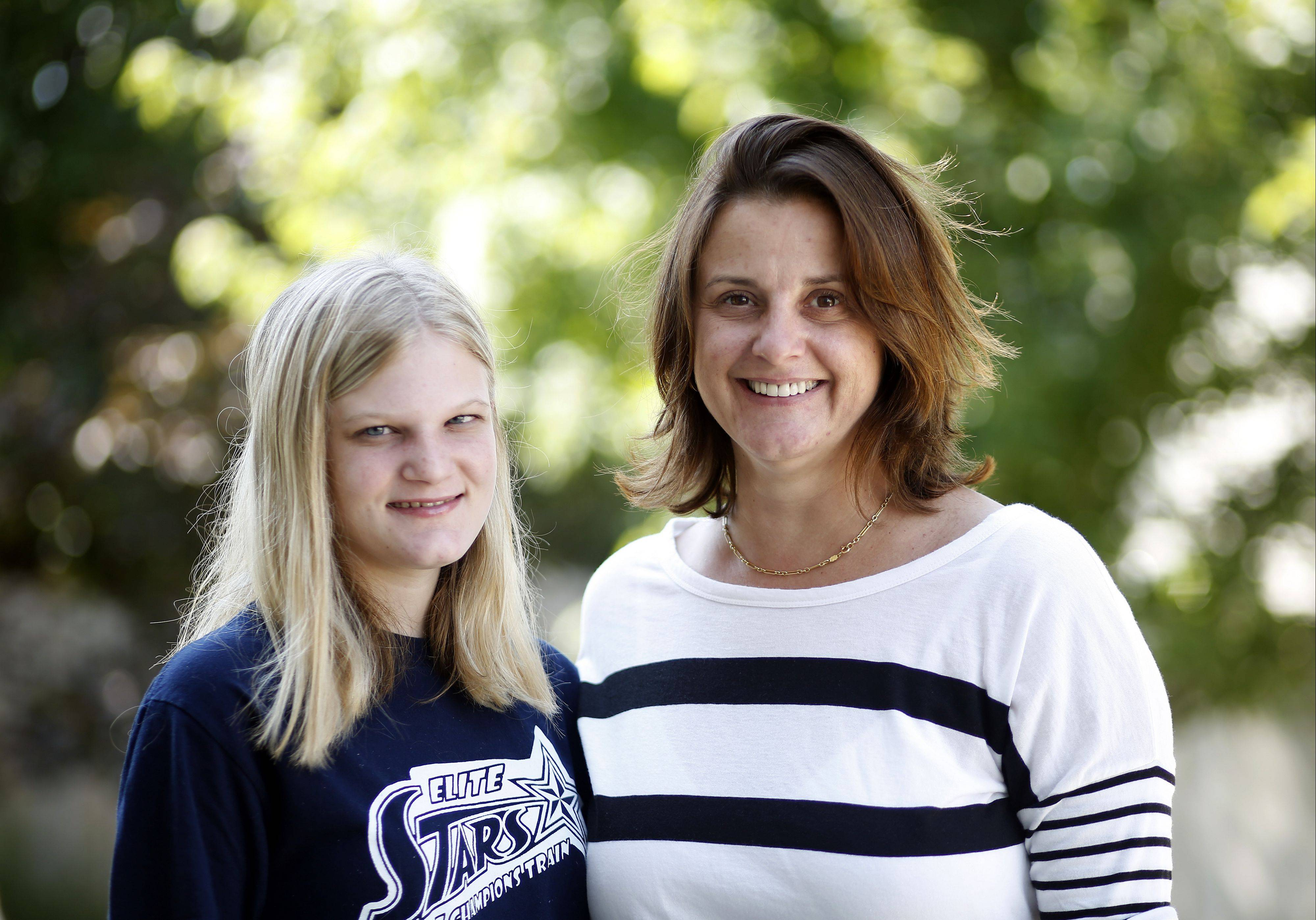 Tess Podraza, 18, of Huntley and her mother, Tia, talk about LIGHT, the transition program that Huntley Area School District 158 will offer to special education students.