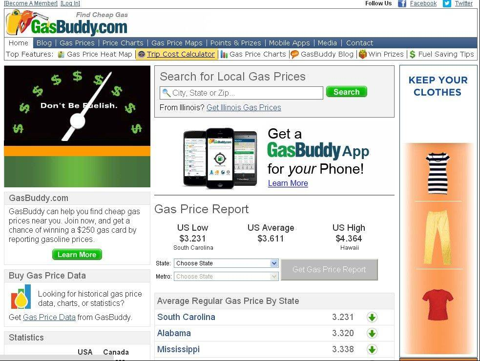 Gasbuddy.com, a website that uses data from volunteers, gas stations and other sources to keep track of gas prices nationwide, ranked more than 750 vehicles from the 2013 model year based on the cost of fuel per mile driven.