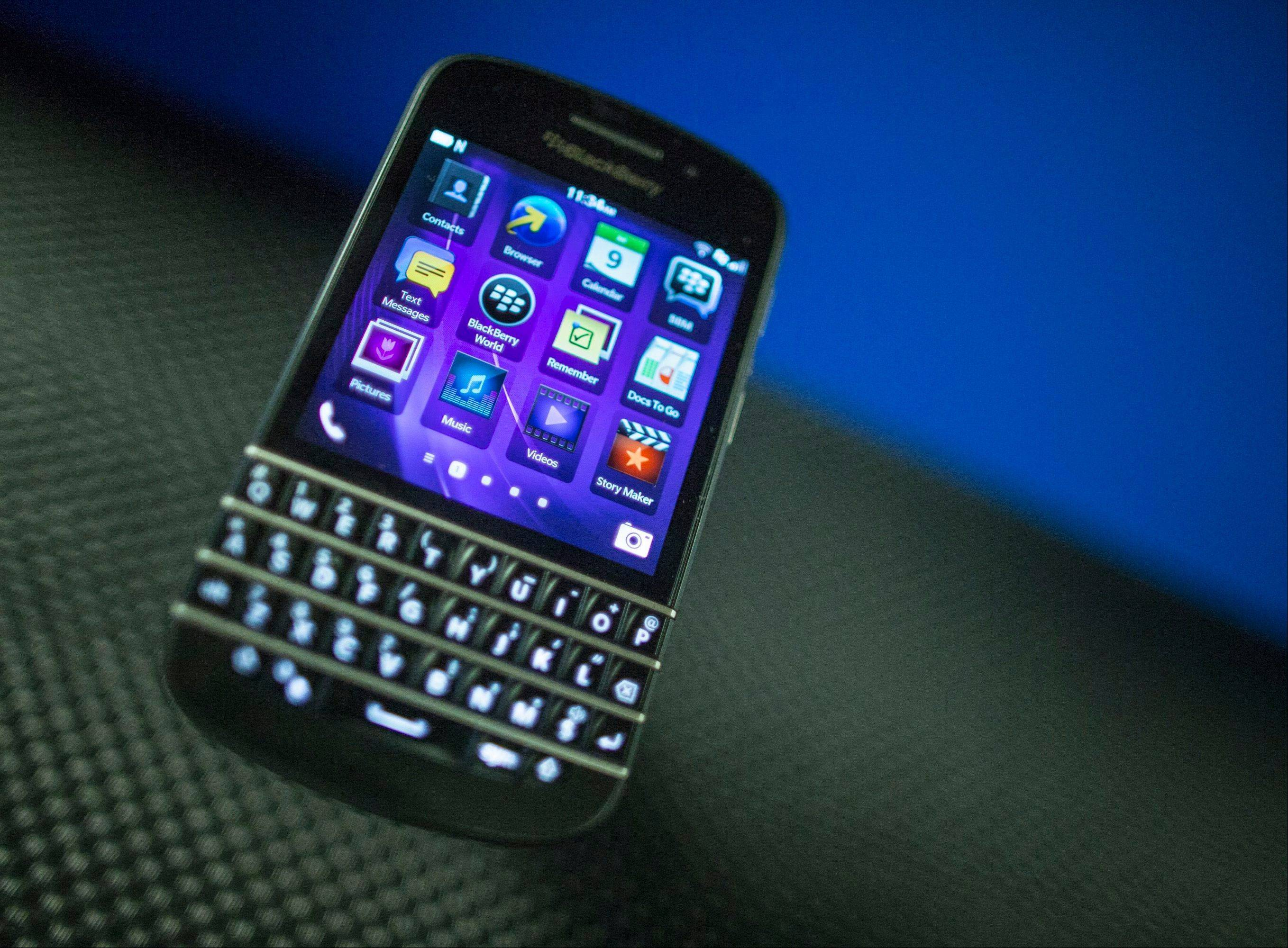 Struggling smartphone maker BlackBerry will consider selling itself.